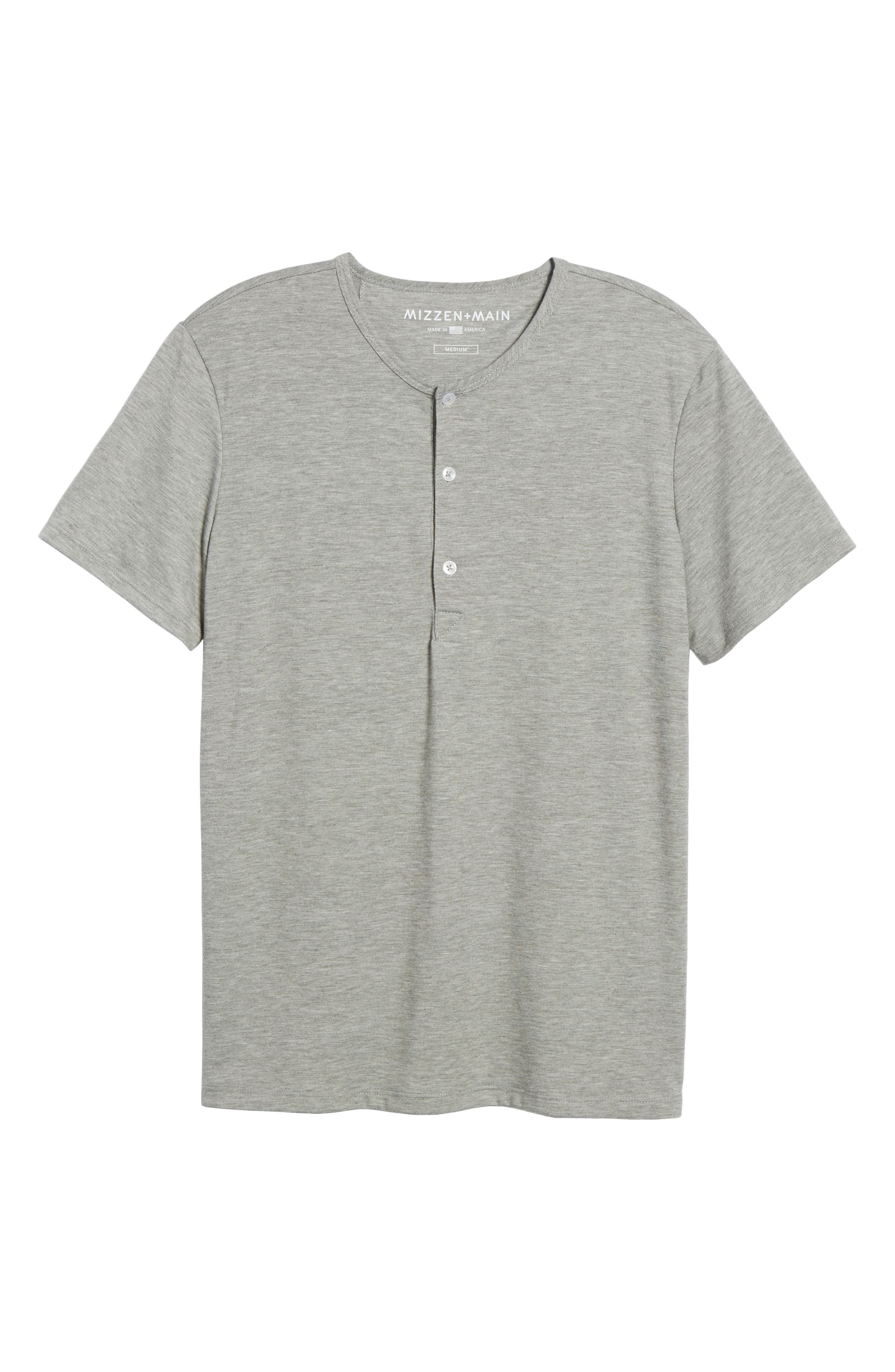 Slim Fit Short Sleeve Performance Henley T-Shirt,                             Alternate thumbnail 6, color,                             Grey