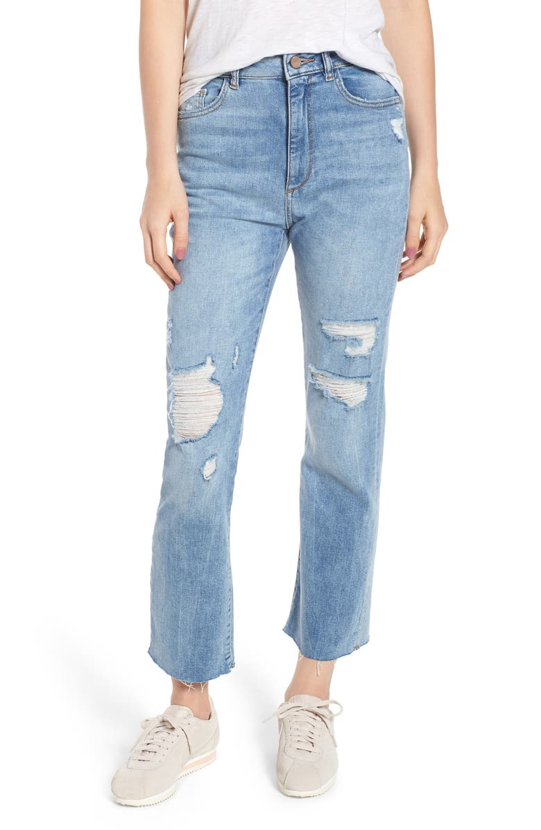 Jerry High Waist Vintage Crop Straight Leg Jeans