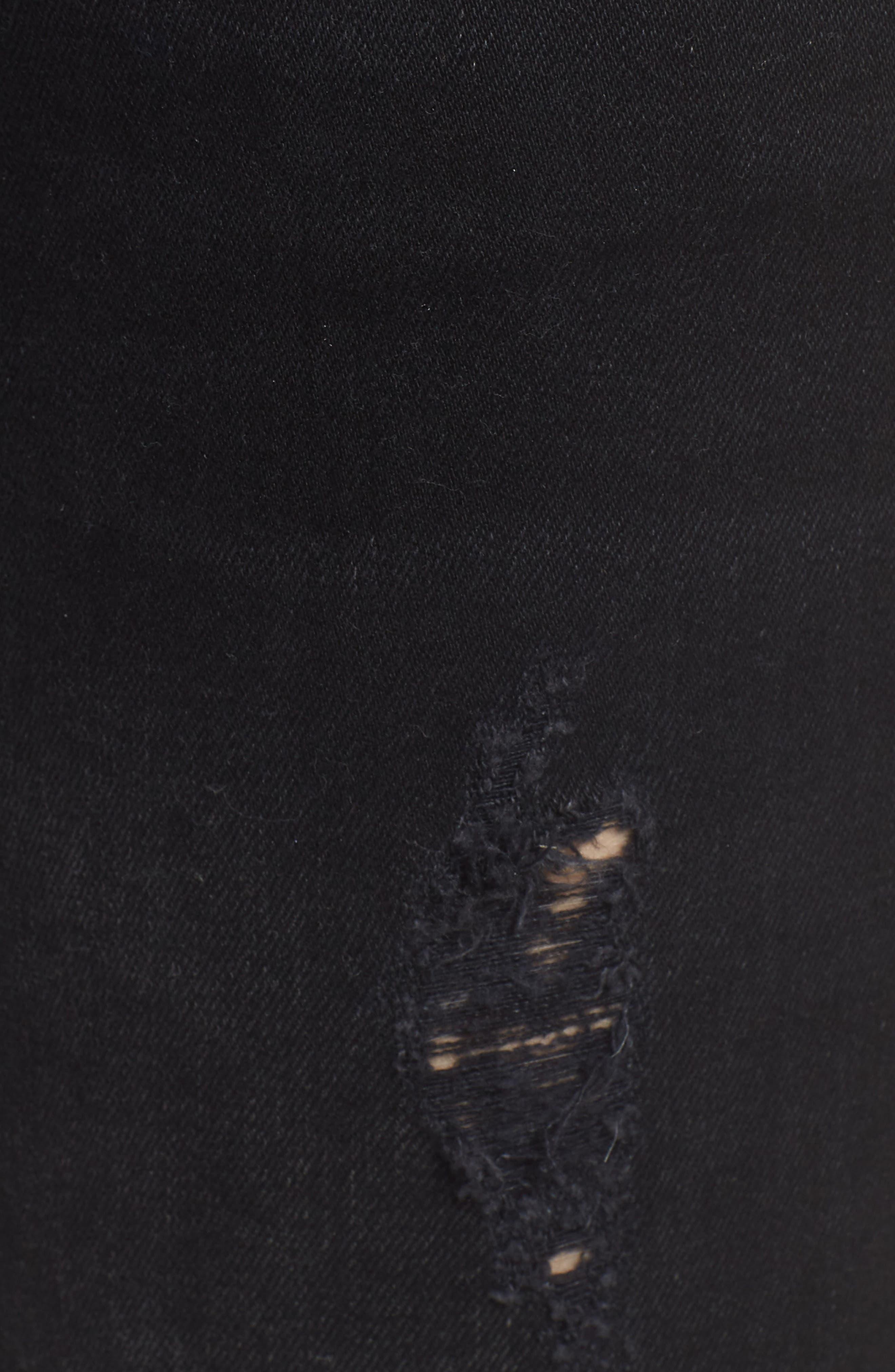 Alternate Image 5  - Hudson Jeans Nico Ankle Skinny Jeans (Noir Floret)