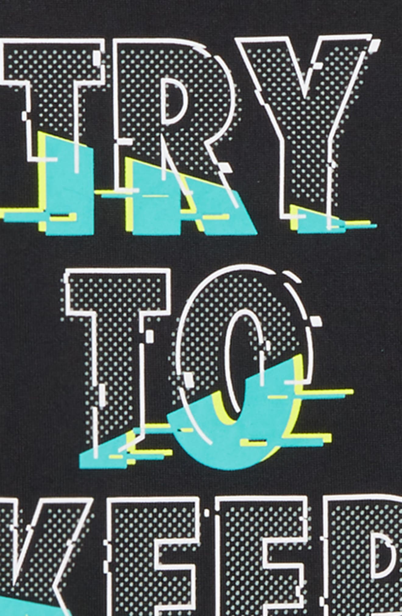 Try to Keep Up HeatGear<sup>®</sup> T-Shirt,                             Alternate thumbnail 2, color,                             Black