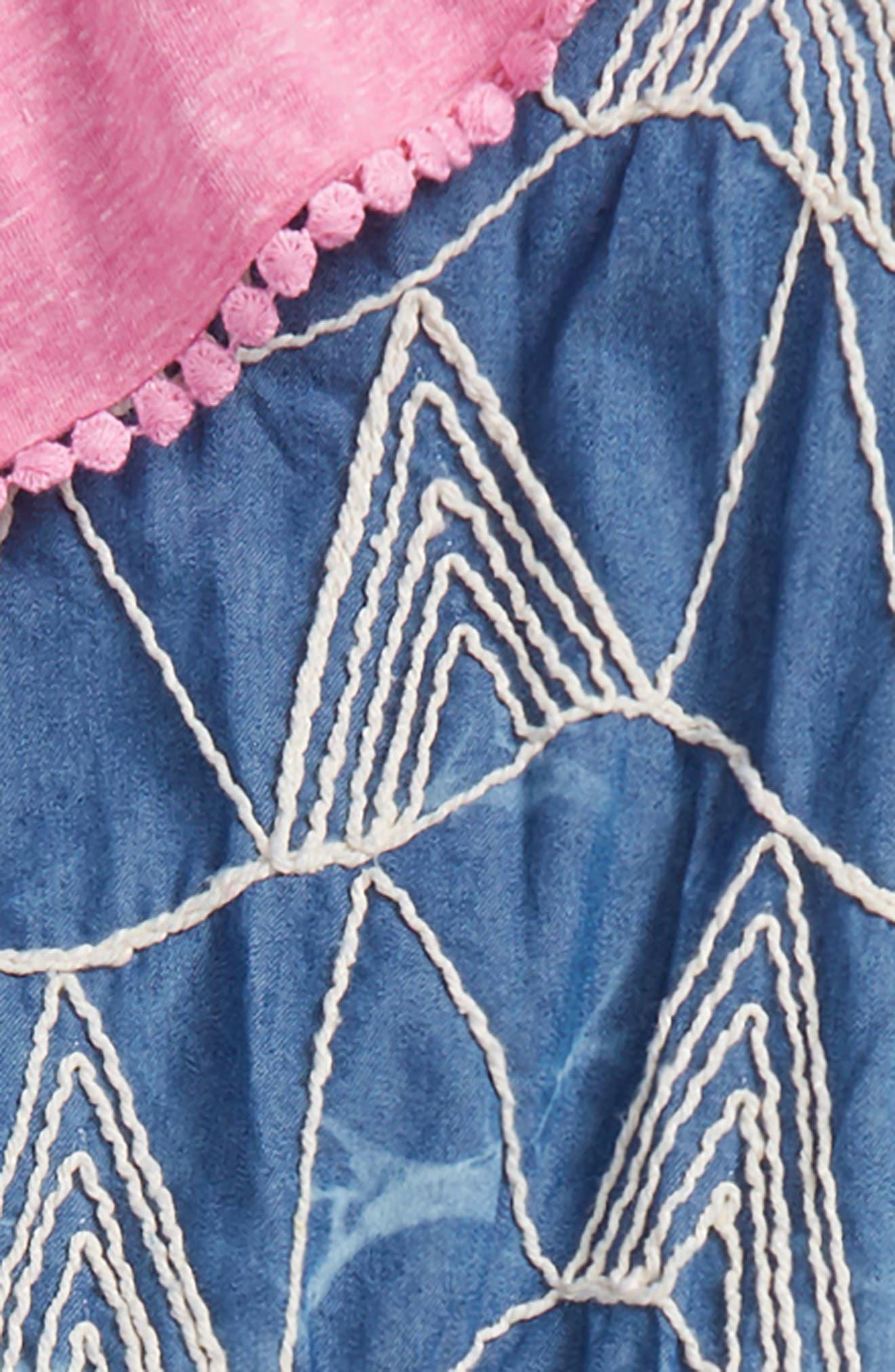 Mikki Miette Livia Embroidered Romper,                             Alternate thumbnail 2, color,                             Sayulita
