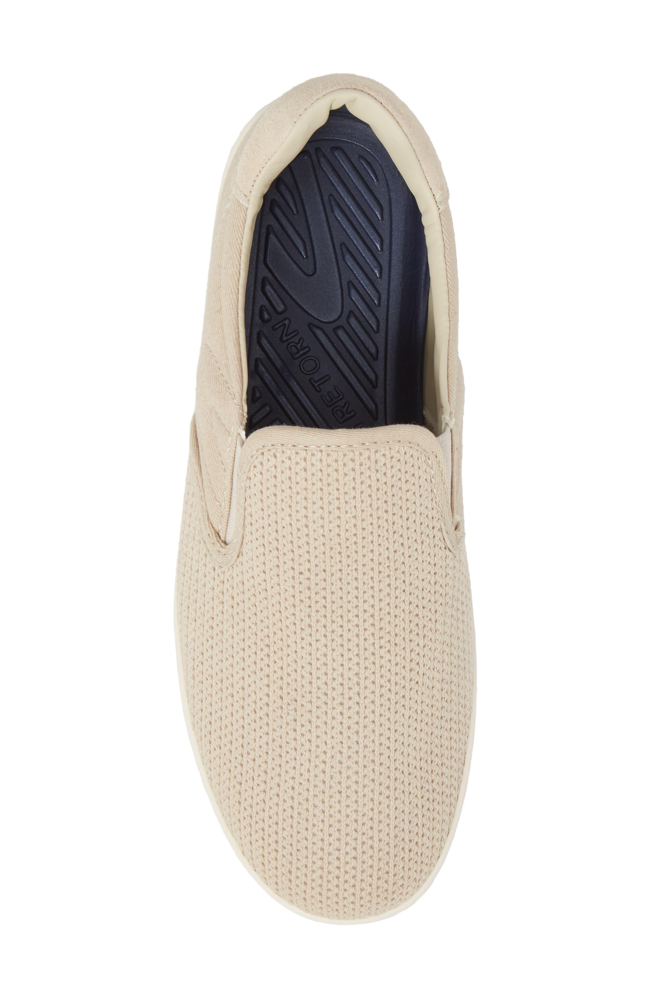Cruz Mesh Slip-On Sneaker,                             Alternate thumbnail 6, color,                             Sand