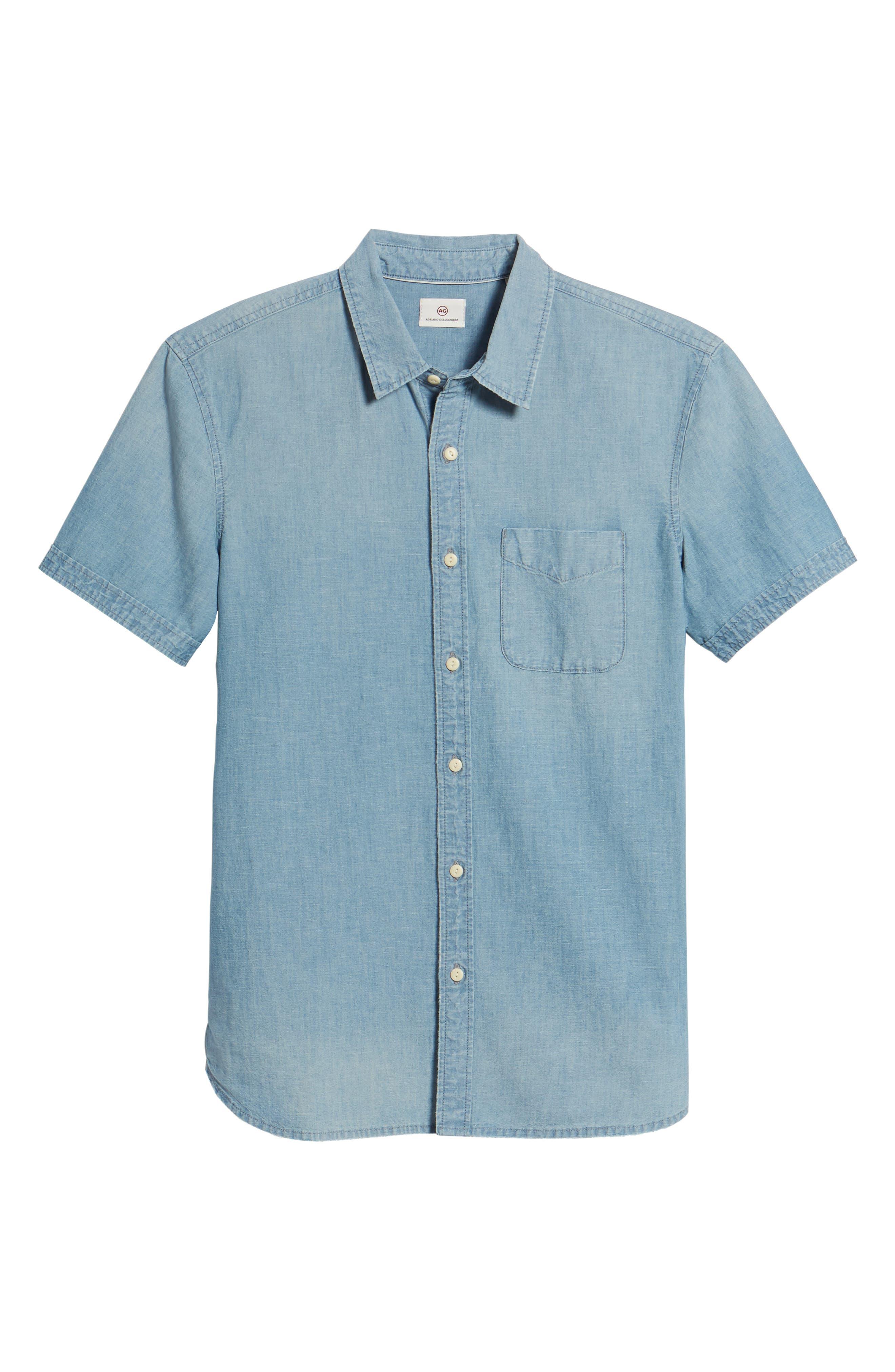 Pearson Regular Fit Short Sleeve Sport Shirt,                             Alternate thumbnail 6, color,                             Foray