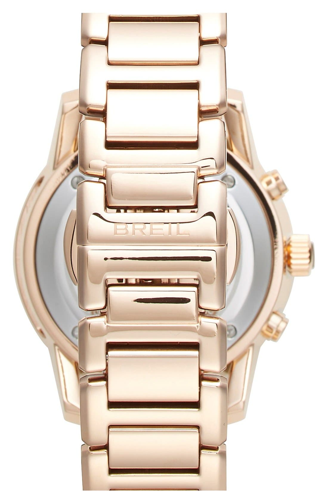 Alternate Image 2  - Breil 'Orchestra' Crystal Bezel Chronograph Bracelet Watch, 37mm