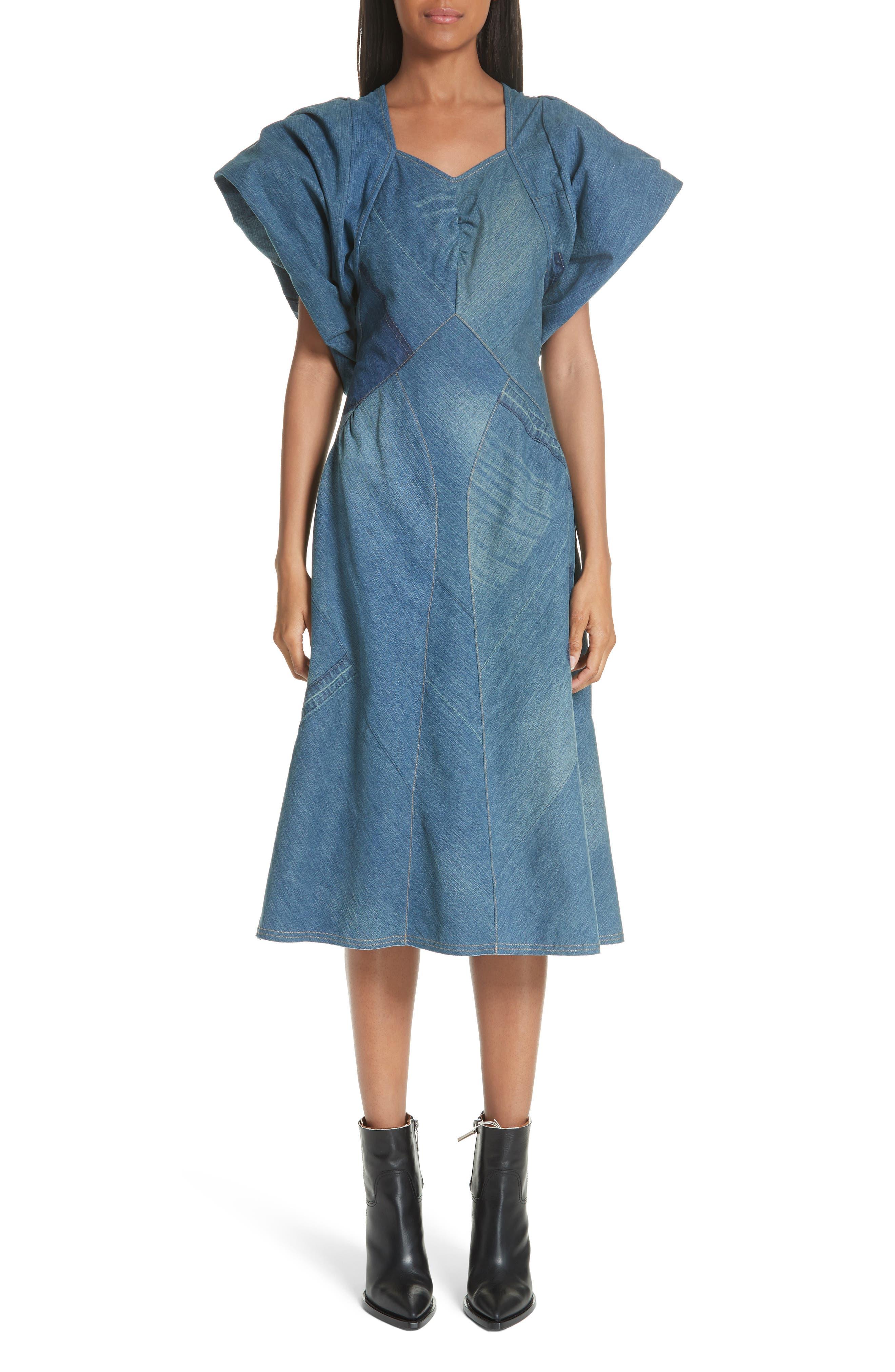 Junya Watanabe Denim Patchwork Dress