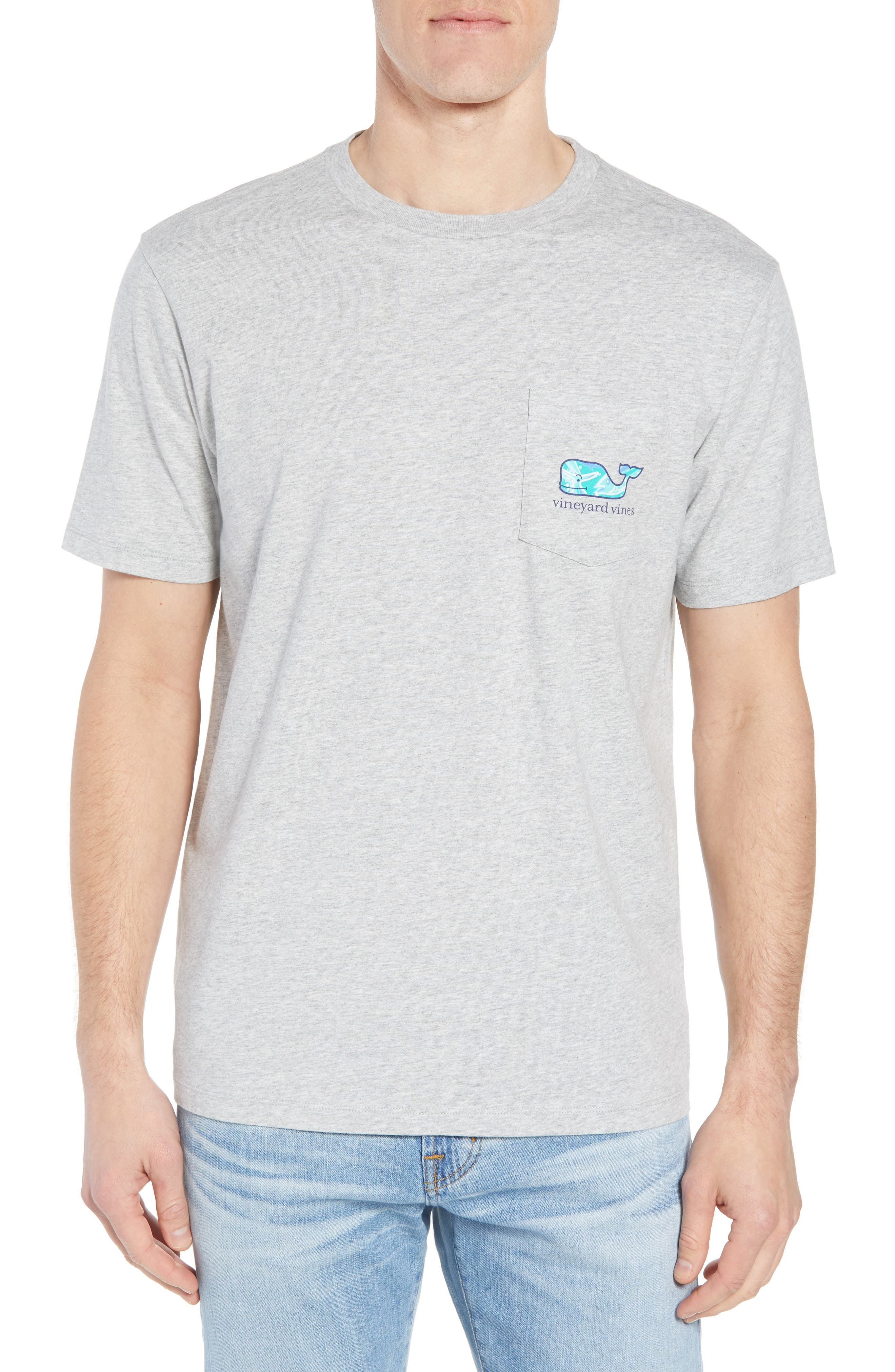 School of Tuna Regular Fit Pocket T-Shirt,                         Main,                         color, Gray Heather