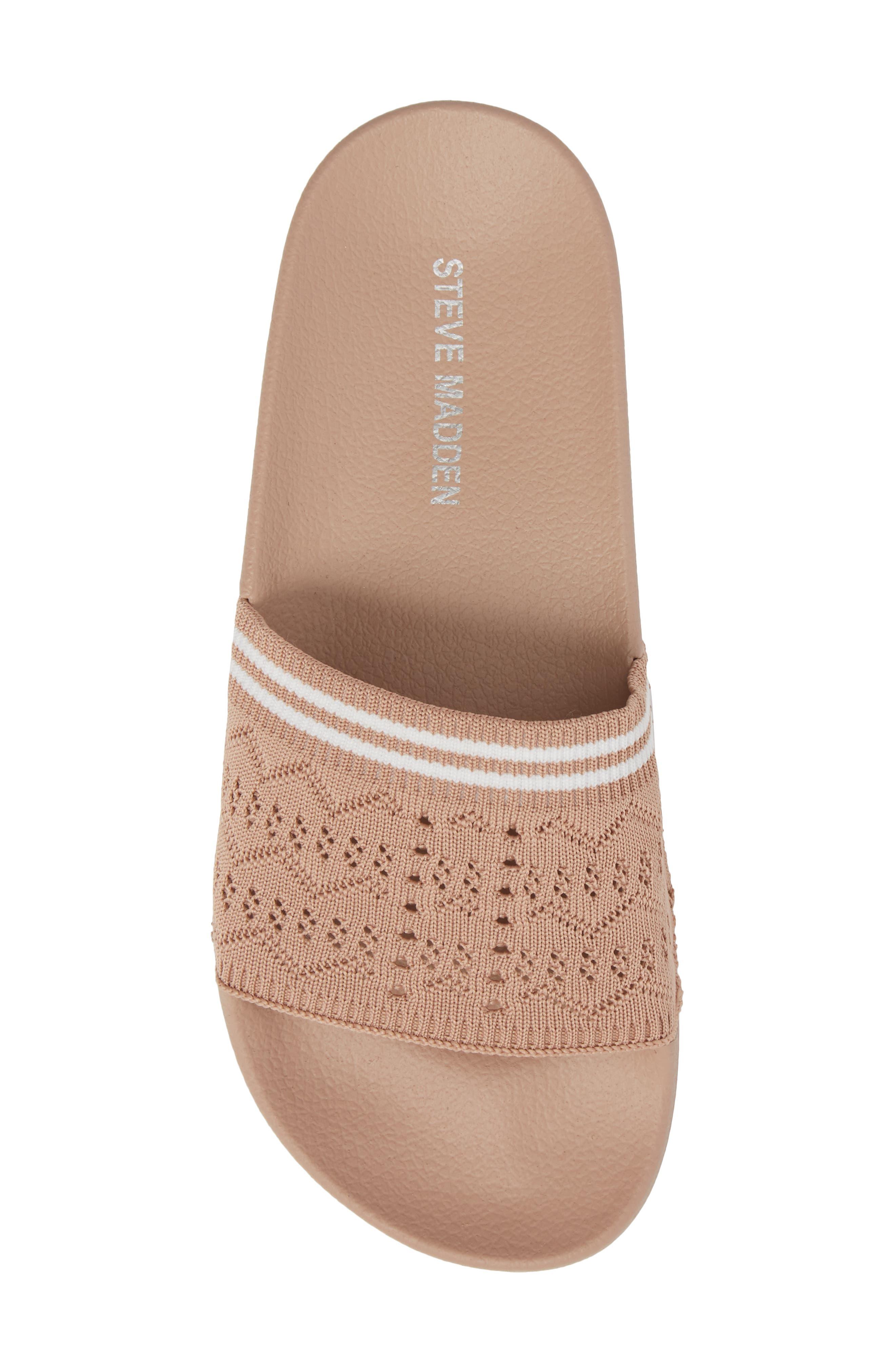 Vibe Sock Knit Slide Sandal,                             Alternate thumbnail 5, color,                             Blush