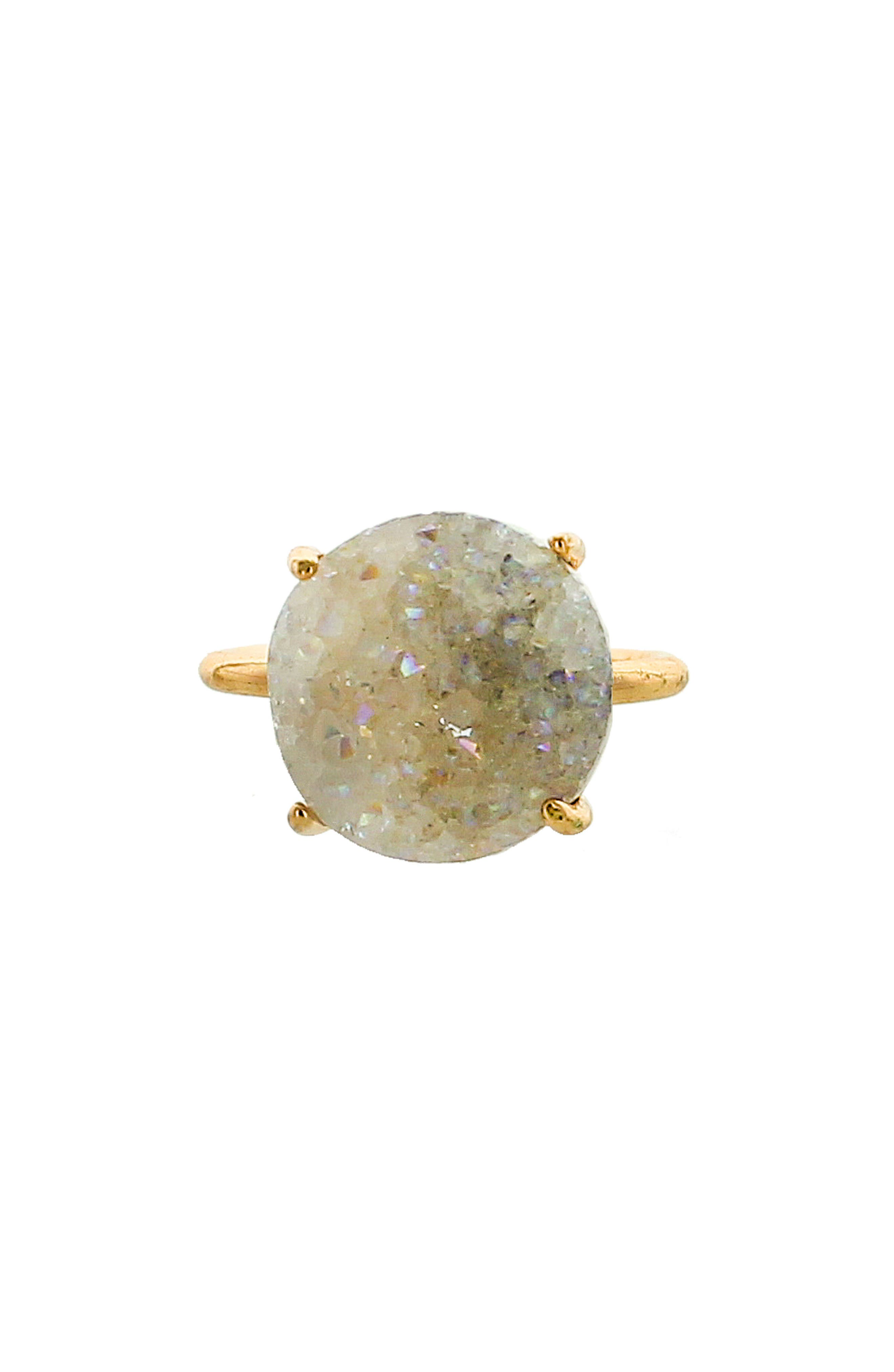 Drusy Ring,                         Main,                         color, White