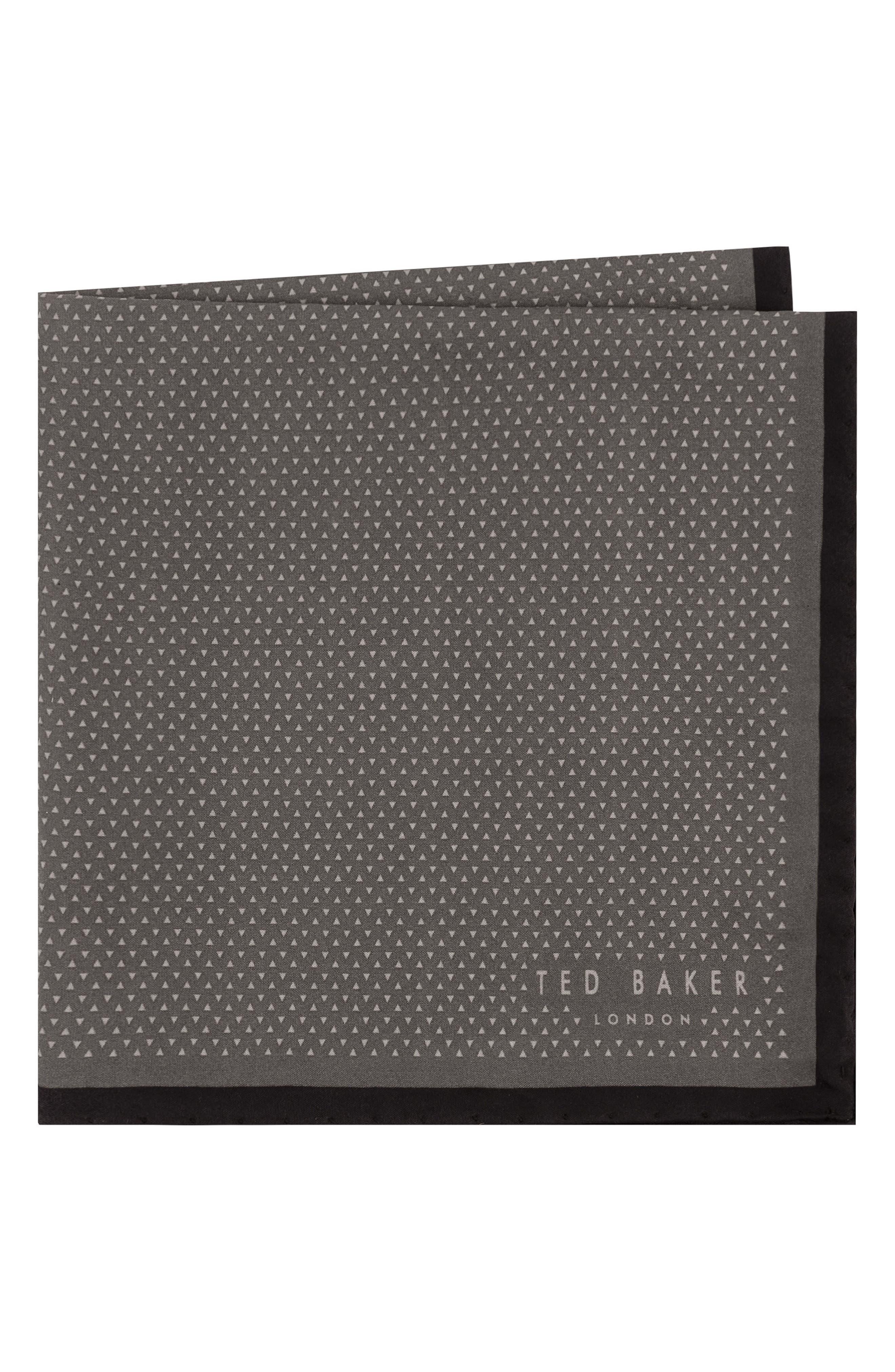 Triangle Pocket Square,                             Main thumbnail 1, color,                             Black
