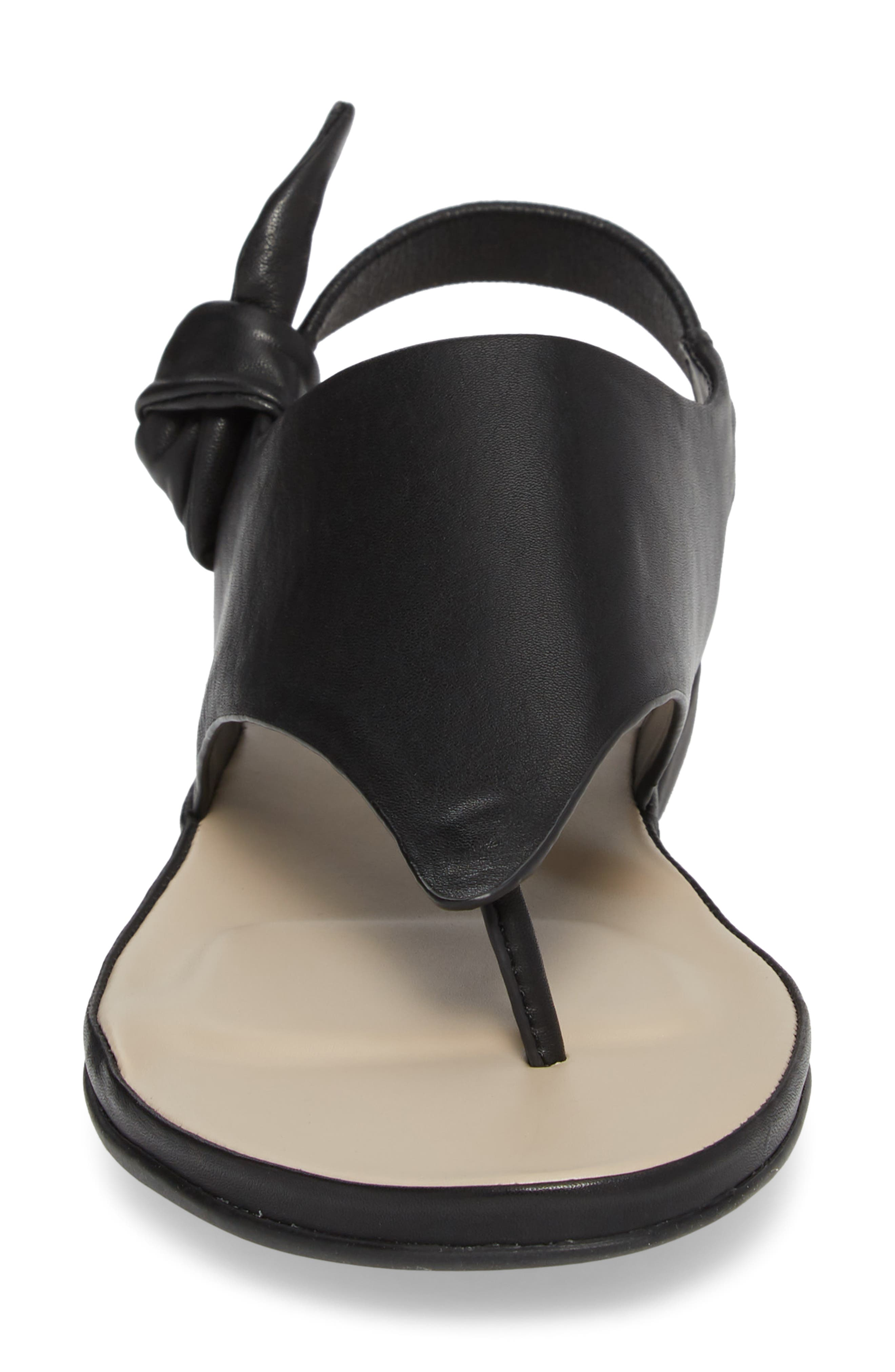 Aleena Sandal,                             Alternate thumbnail 4, color,                             Black Leather