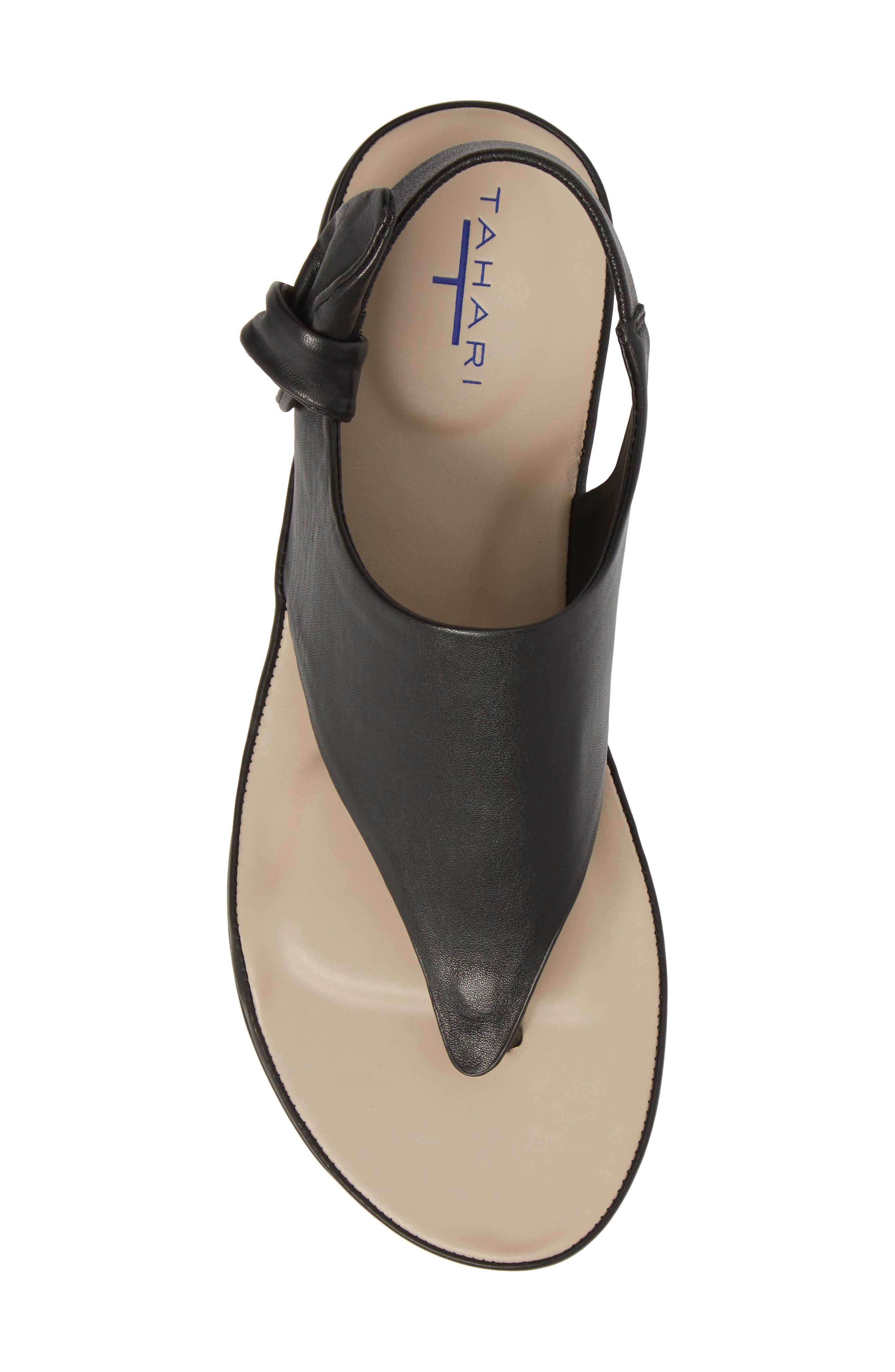 Aleena Sandal,                             Alternate thumbnail 5, color,                             Black Leather