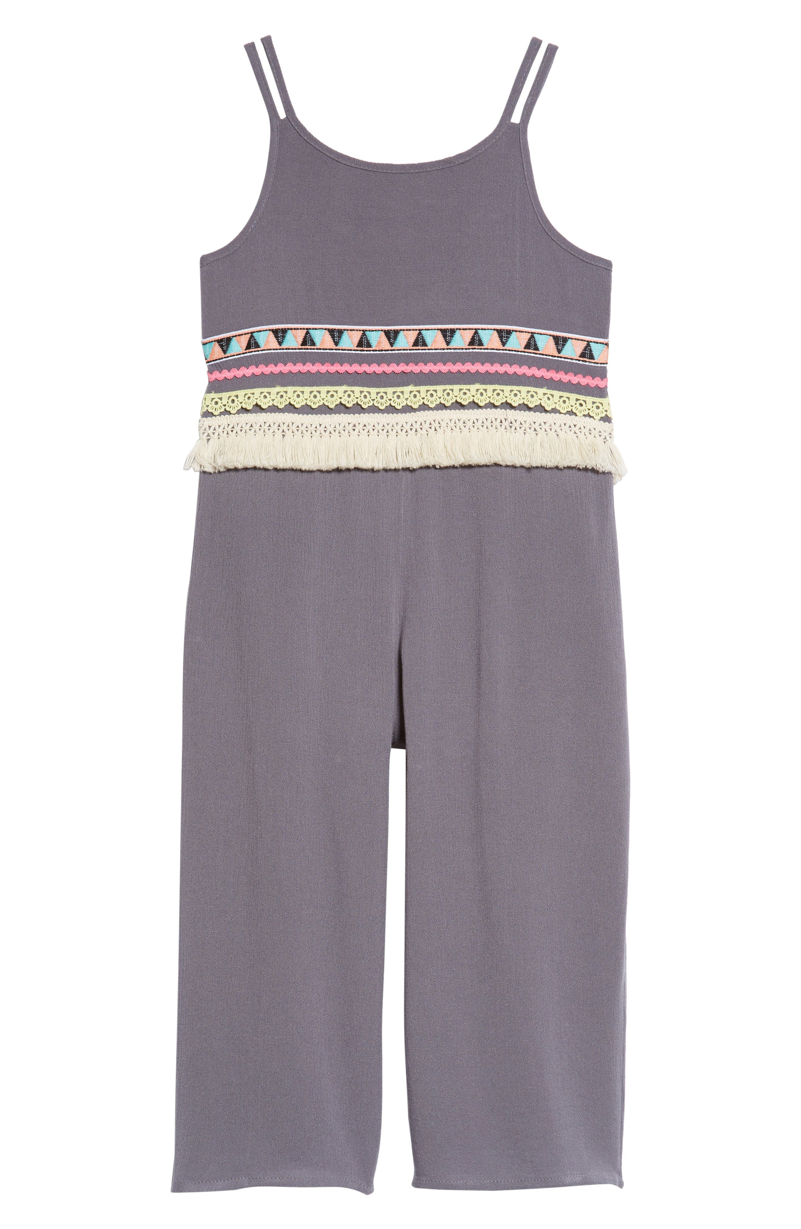 Main Image - Truly Me Trim Jumpsuit (Toddler Girls & Little Girls)