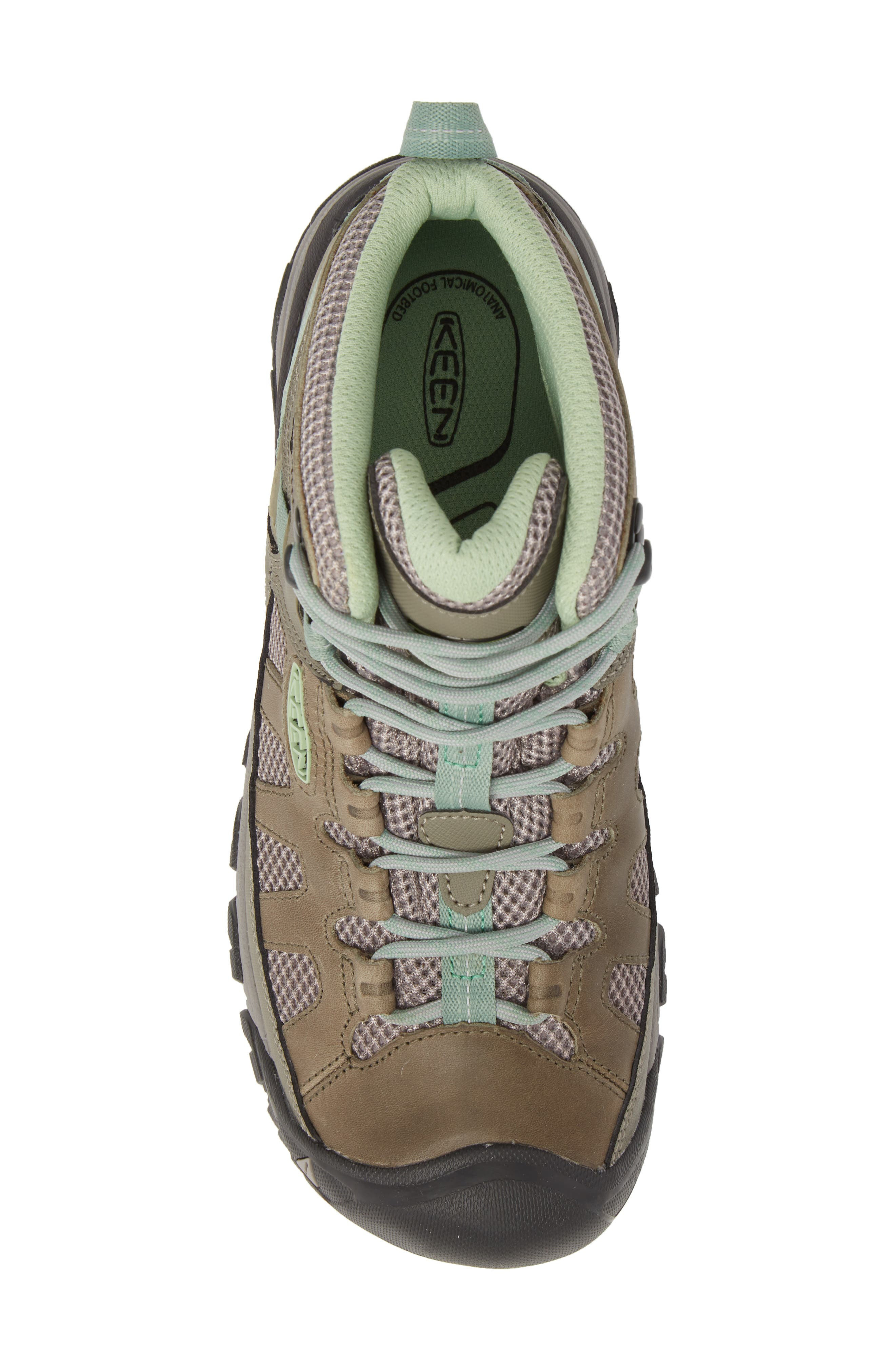Targhee Vent Mid Hiking Shoe,                             Alternate thumbnail 5, color,                             Fumo/ Quiet Green Leather