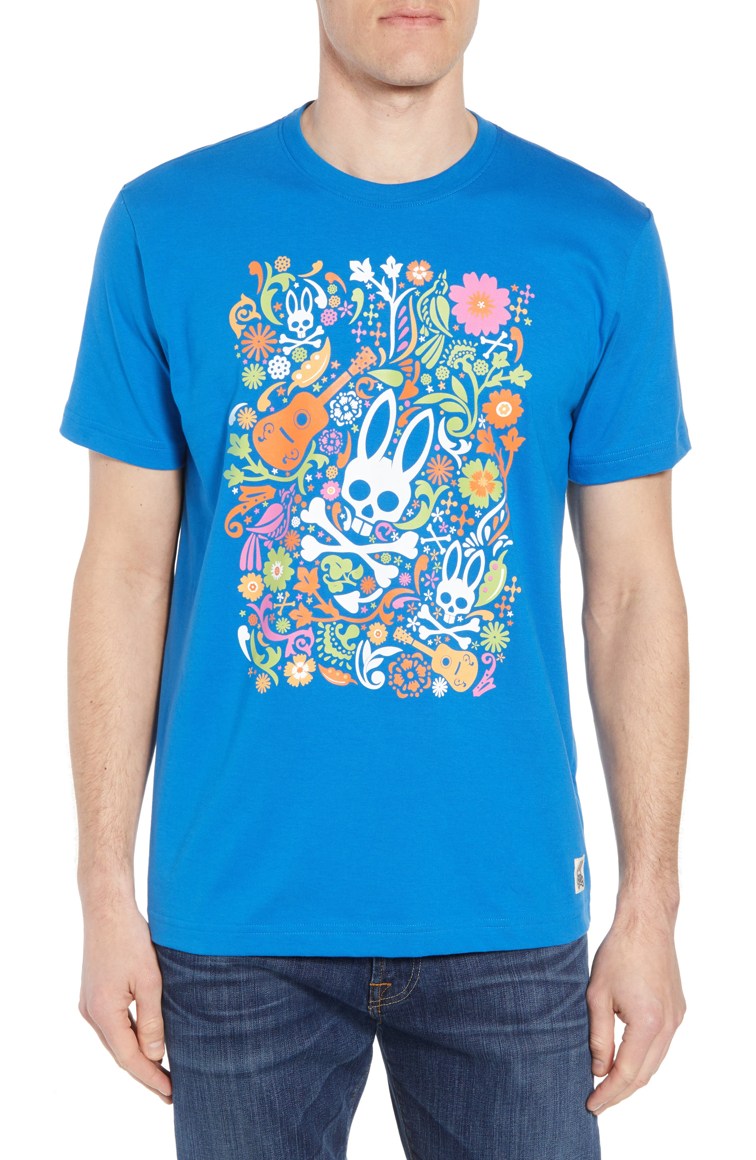 Graphic T-Shirt,                             Main thumbnail 1, color,                             Daphne