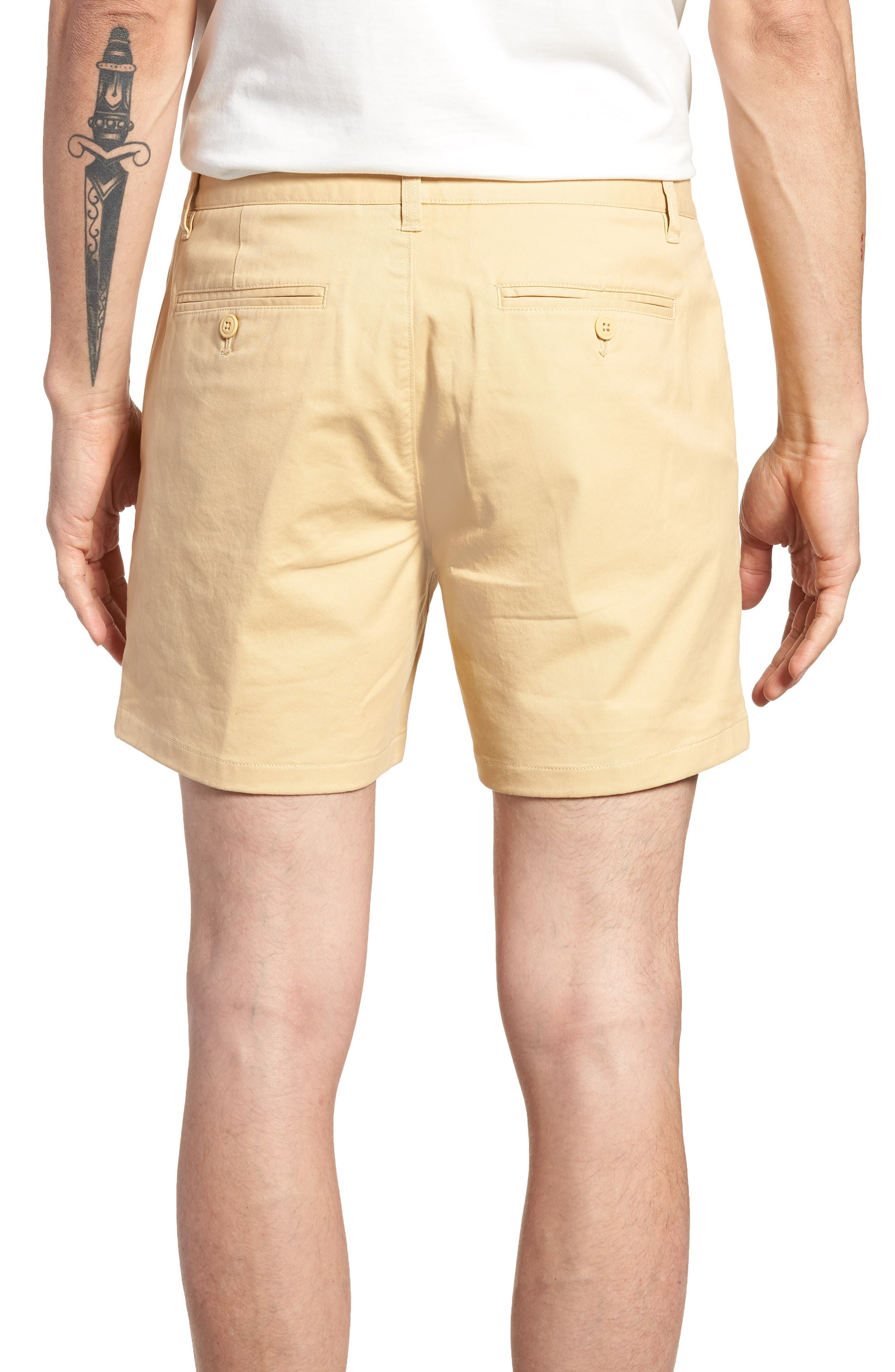 Stretch Washed Chino 5-Inch Shorts,                             Alternate thumbnail 2, color,                             Gold Khaki