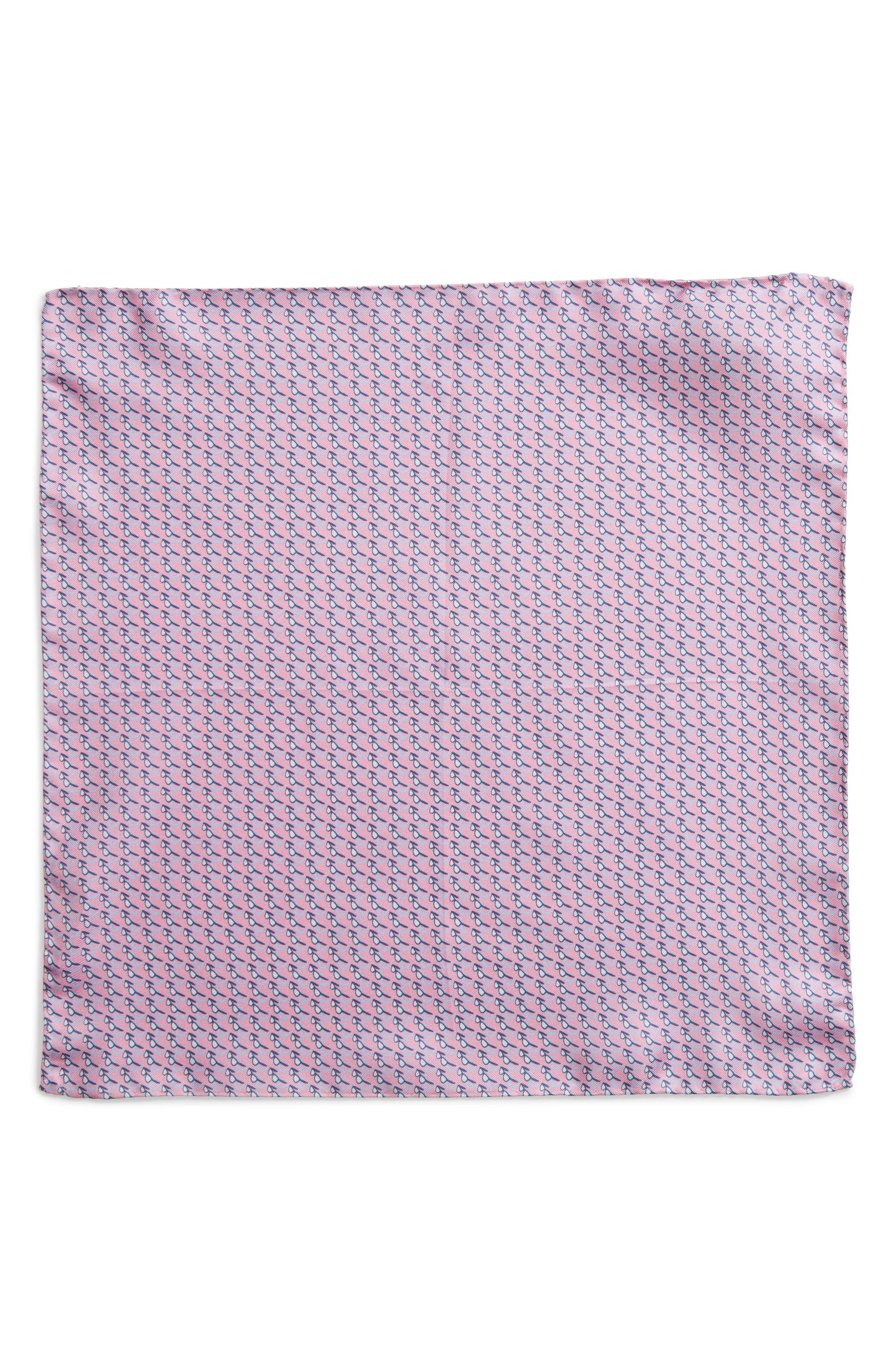 Sweet Shades Silk Pocket Square,                             Alternate thumbnail 2, color,                             Pink