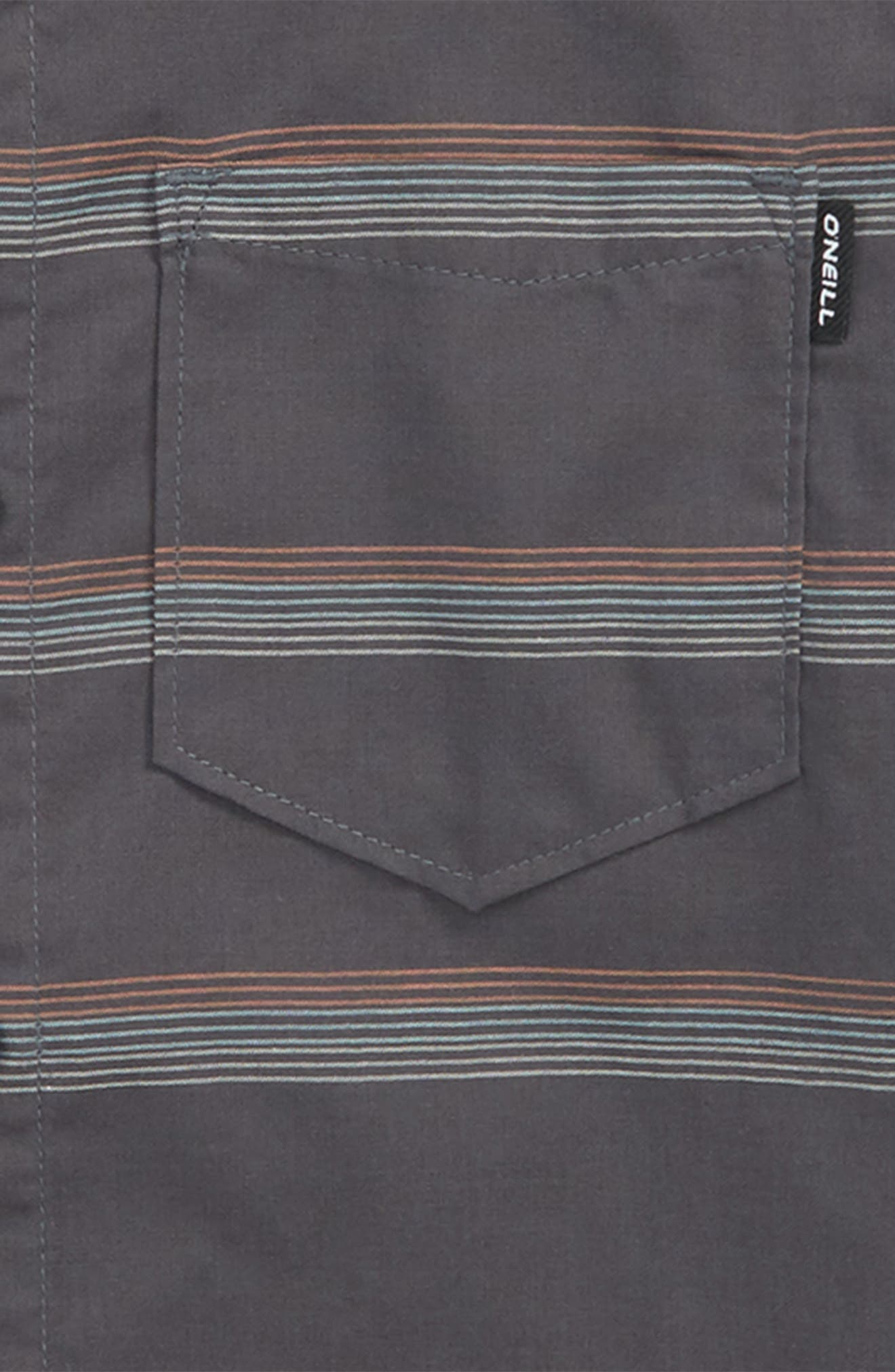 Pickett Woven Shirt,                             Alternate thumbnail 2, color,                             Asphalt