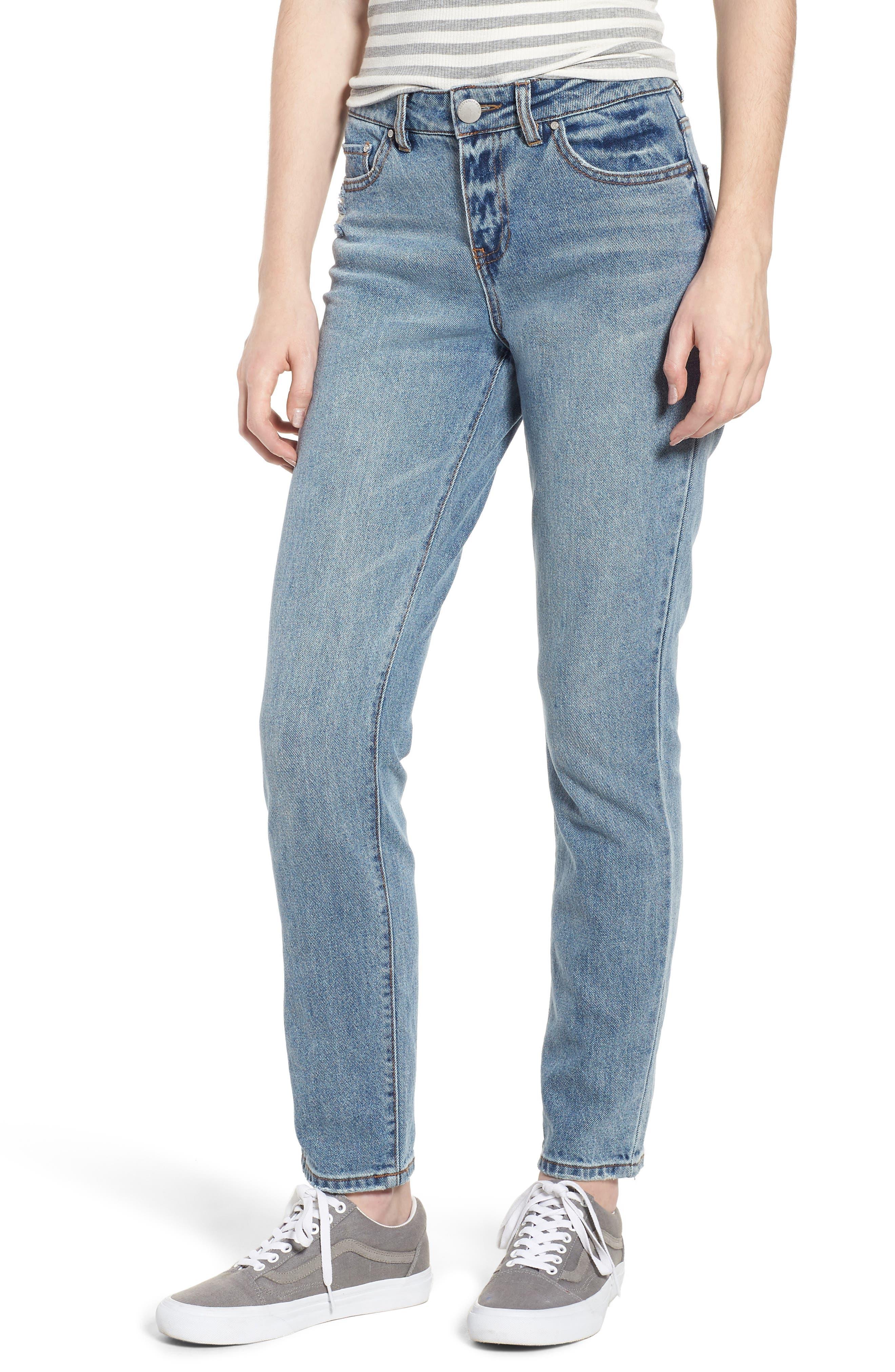 High Waist Skinny Jeans,                         Main,                         color, Medium