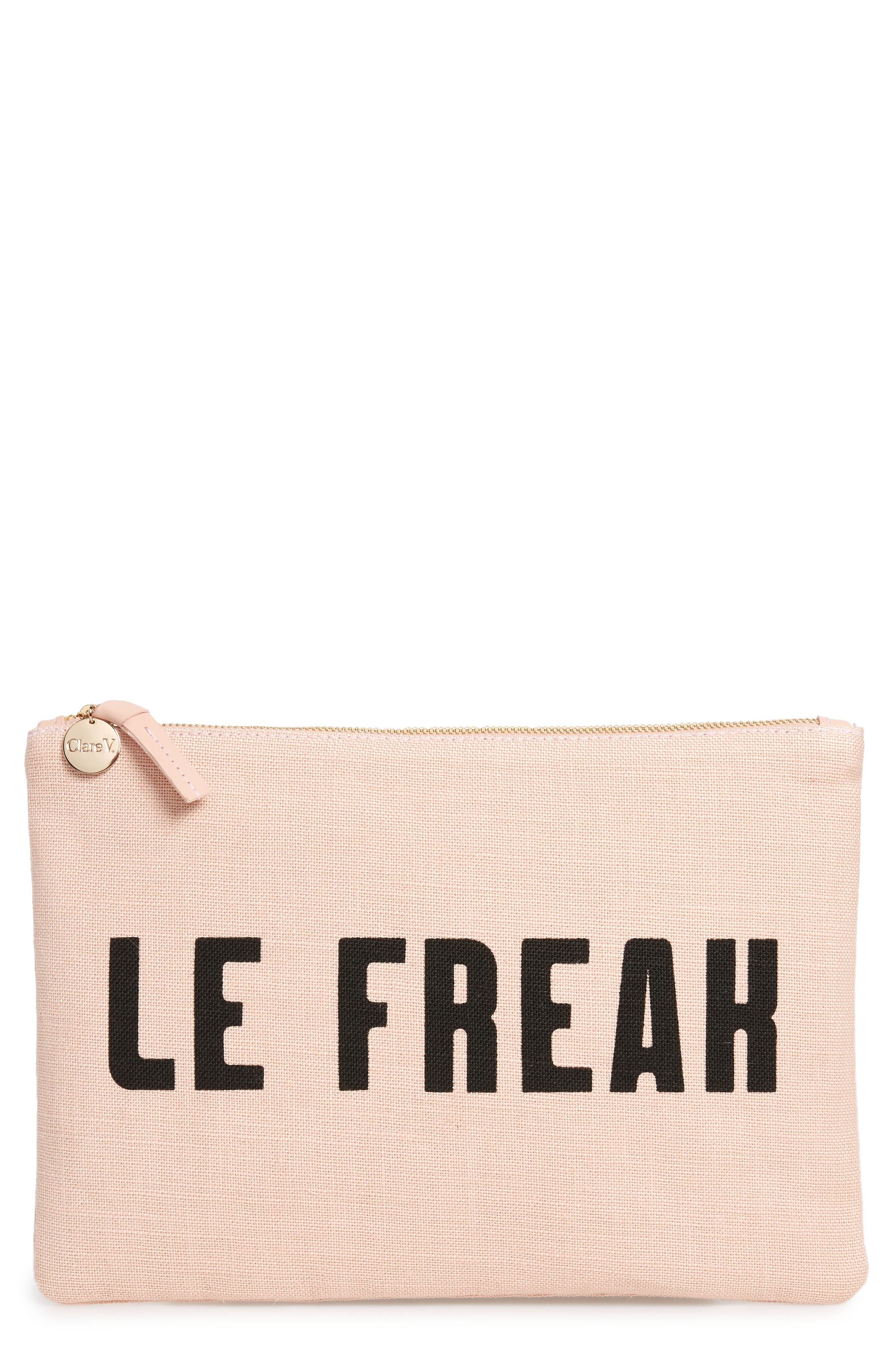 Clare V LE FREAK FLAT CLUTCH - PINK