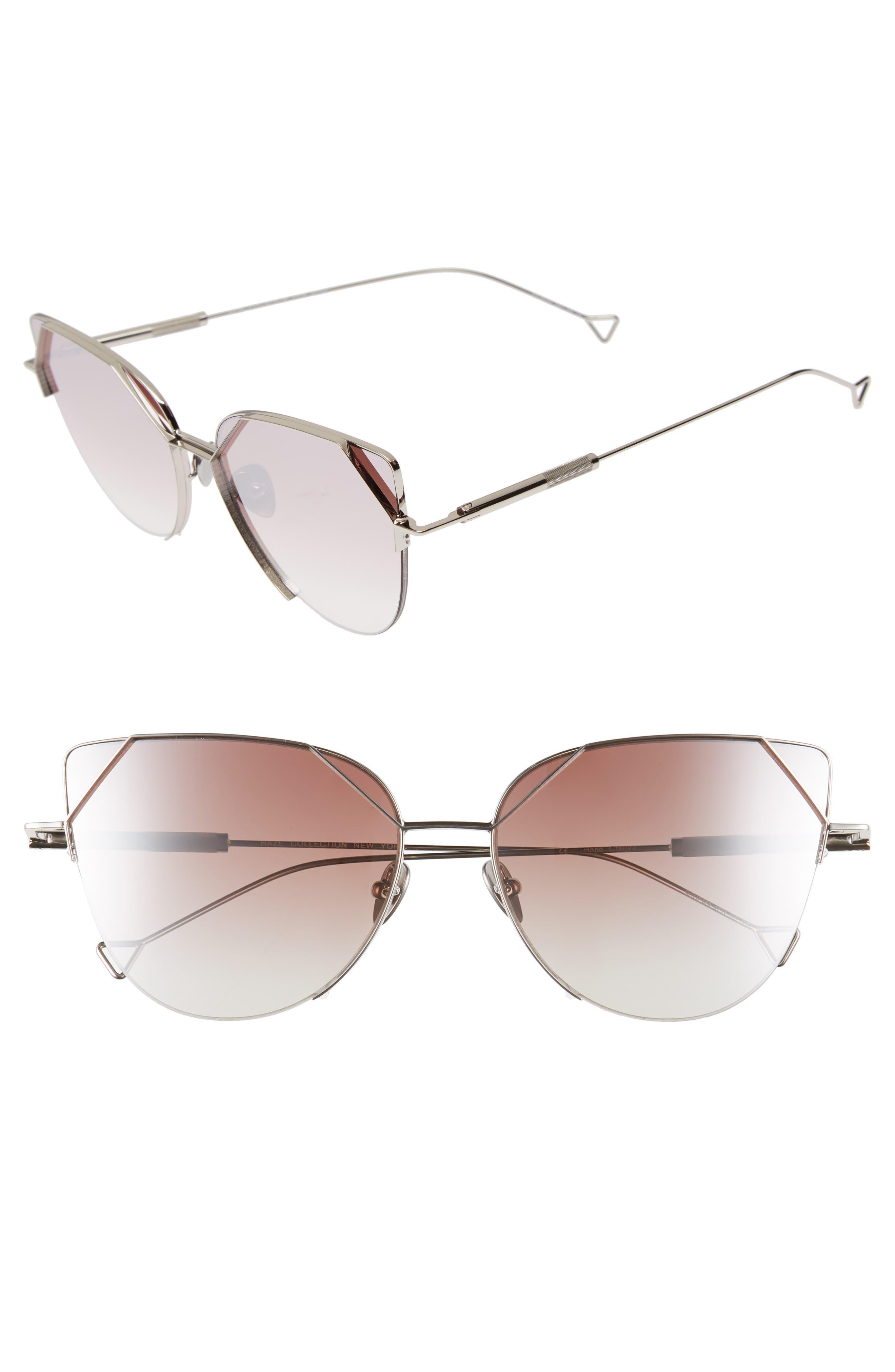 The Schema 59mm Cat Eye Sunglasses,                             Main thumbnail 1, color,                             Pearl