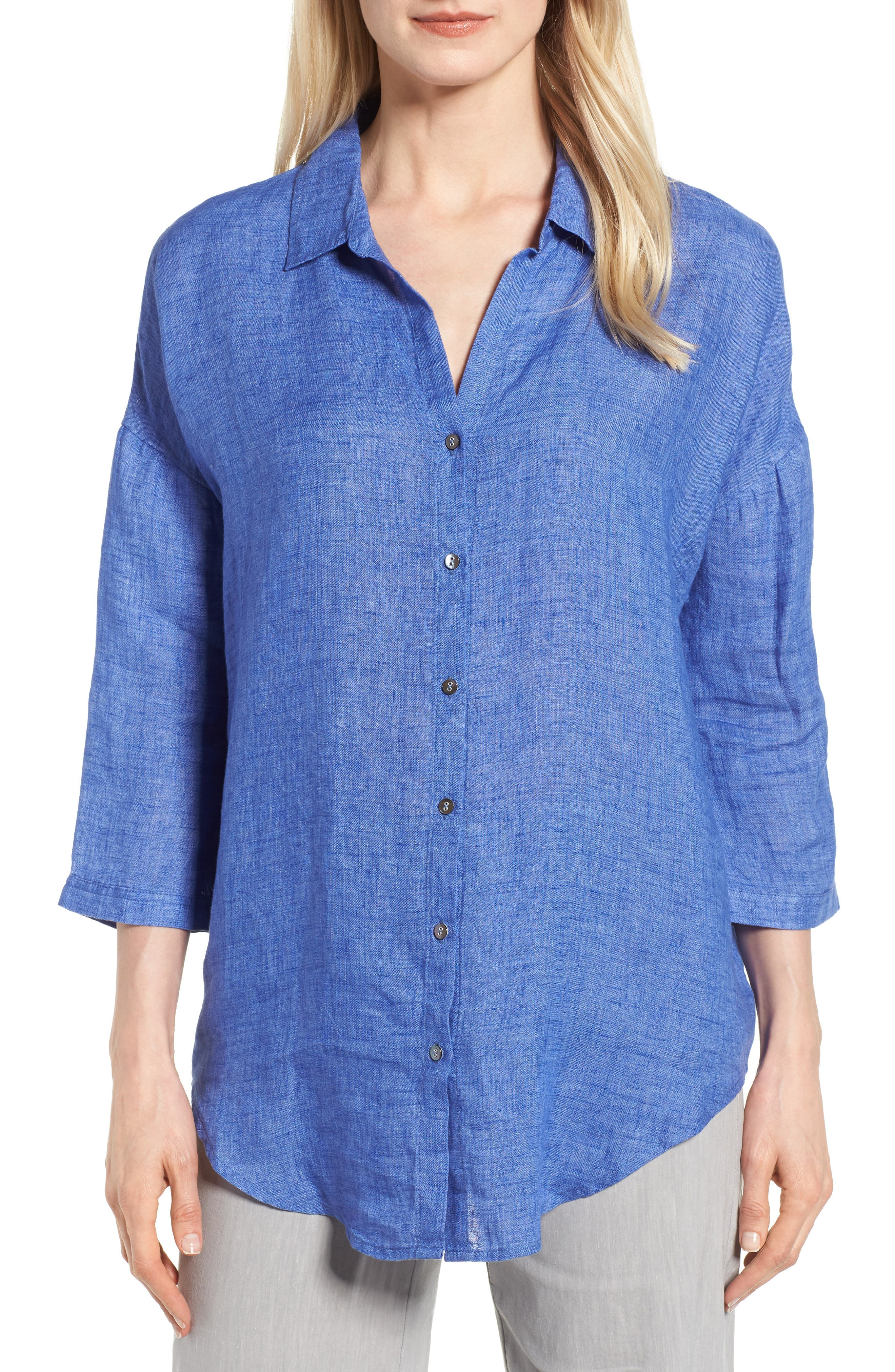 Joy Ride Linen Tunic Top,                         Main,                         color, Ultramarine