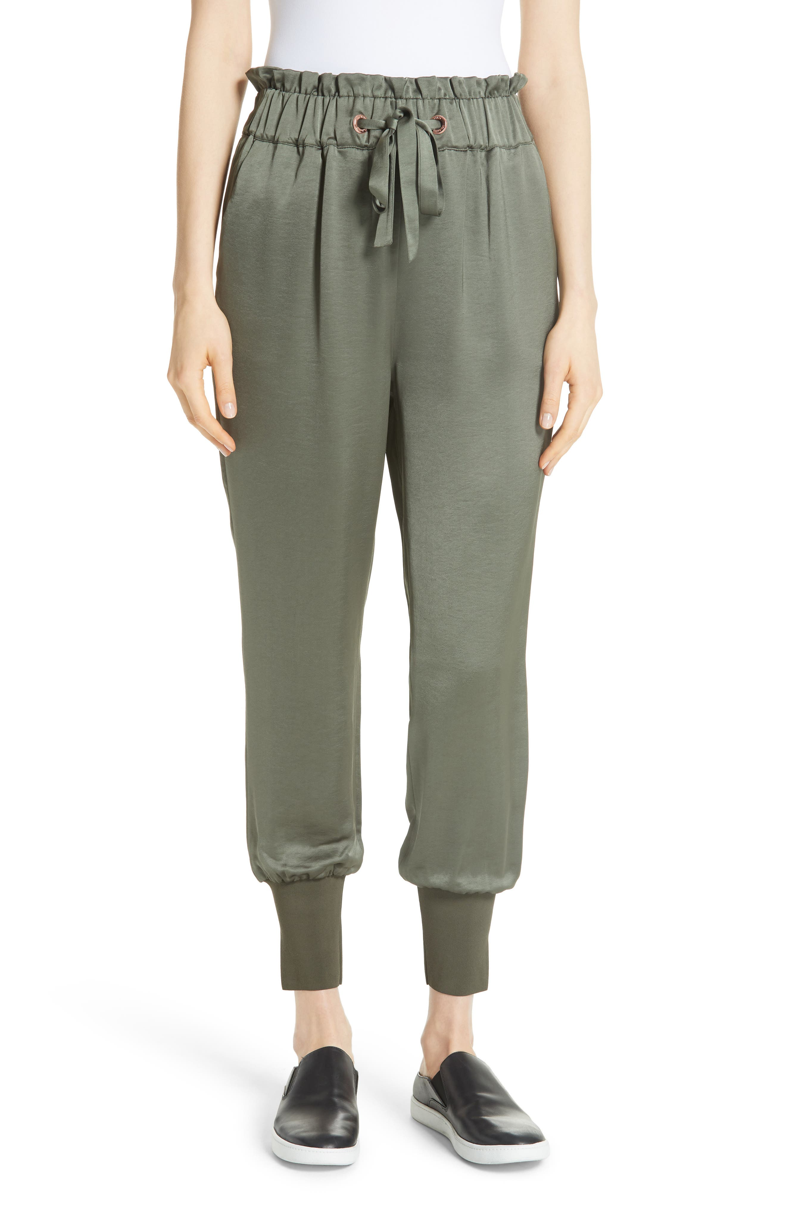 Nayarmi Paperbag Waist Jogger Pants,                         Main,                         color, Khaki