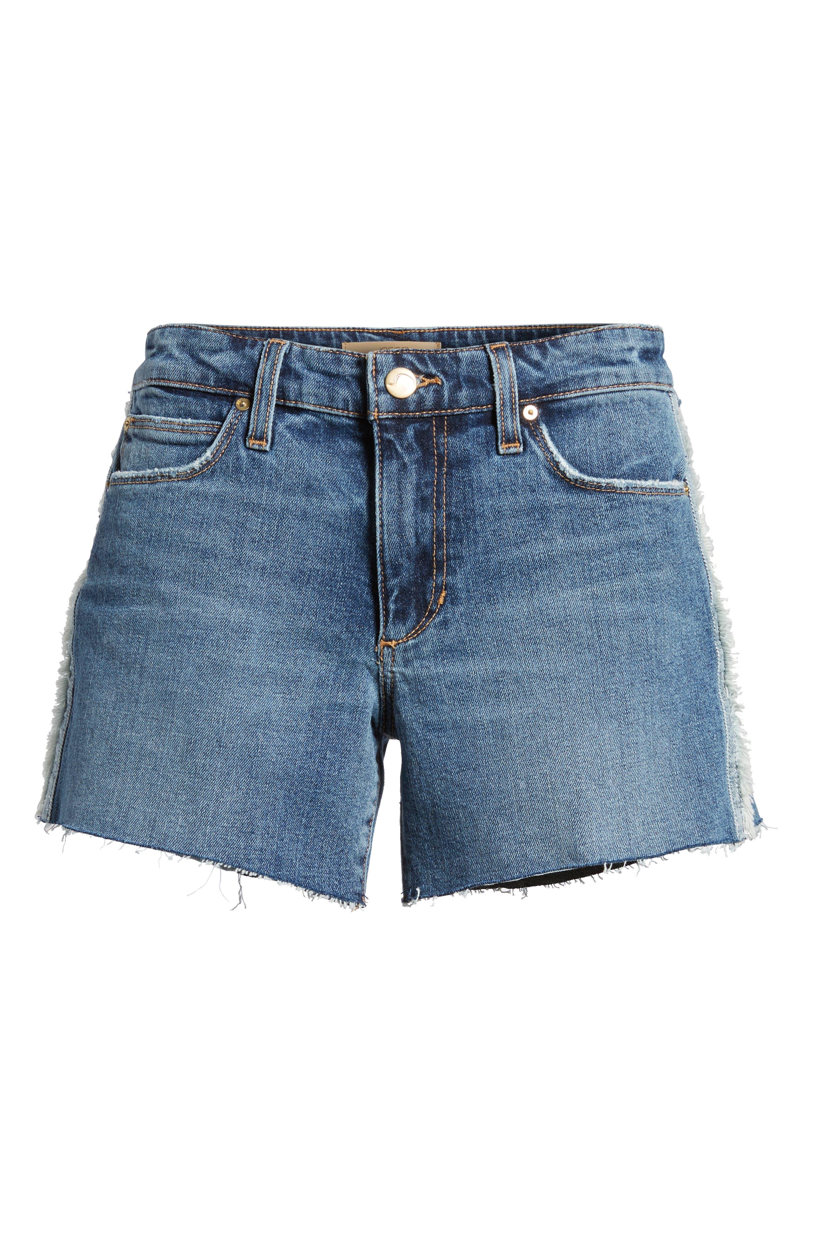 Ozzie Side Stripe Cutoff Shorts,                             Alternate thumbnail 7, color,                             Madera