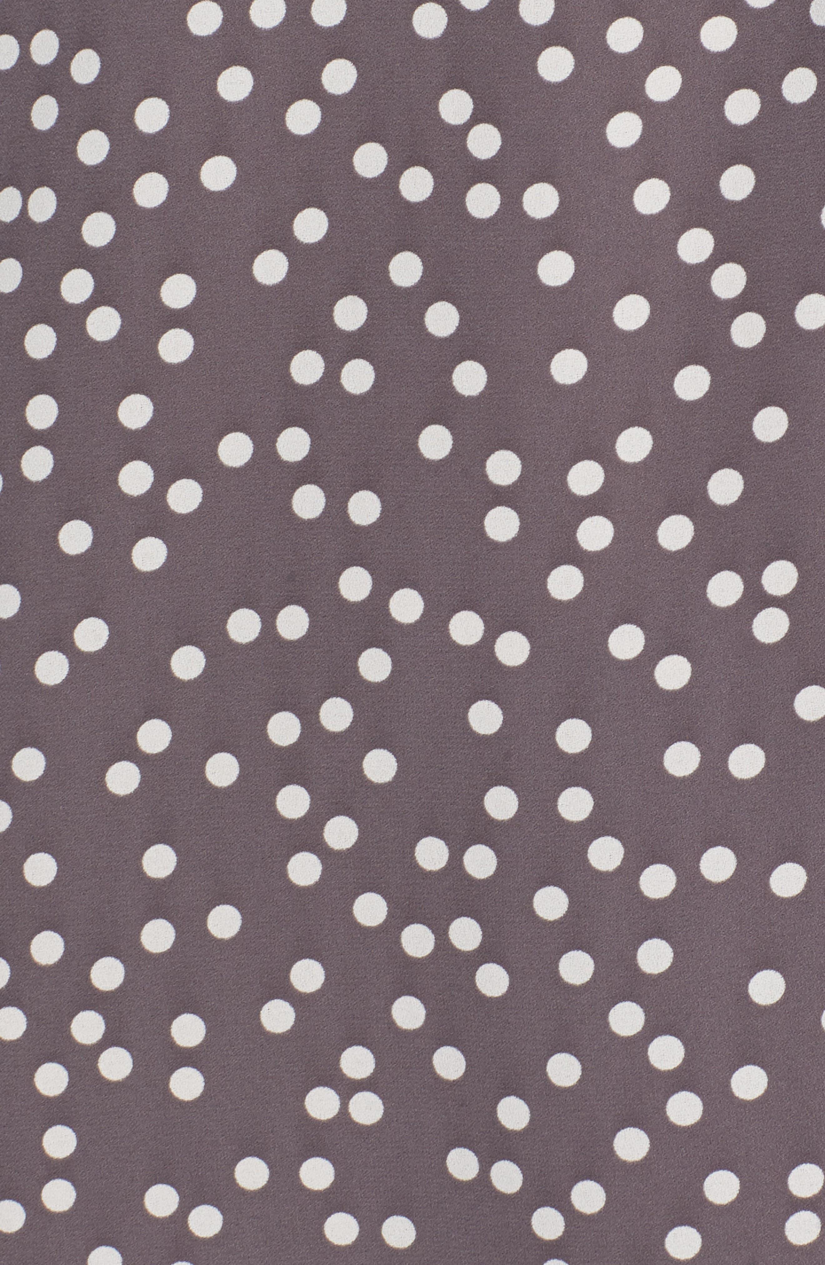 Dot Print Long Sleeve Blouse,                             Alternate thumbnail 6, color,                             Nantucket Grey/ Oyster Shell