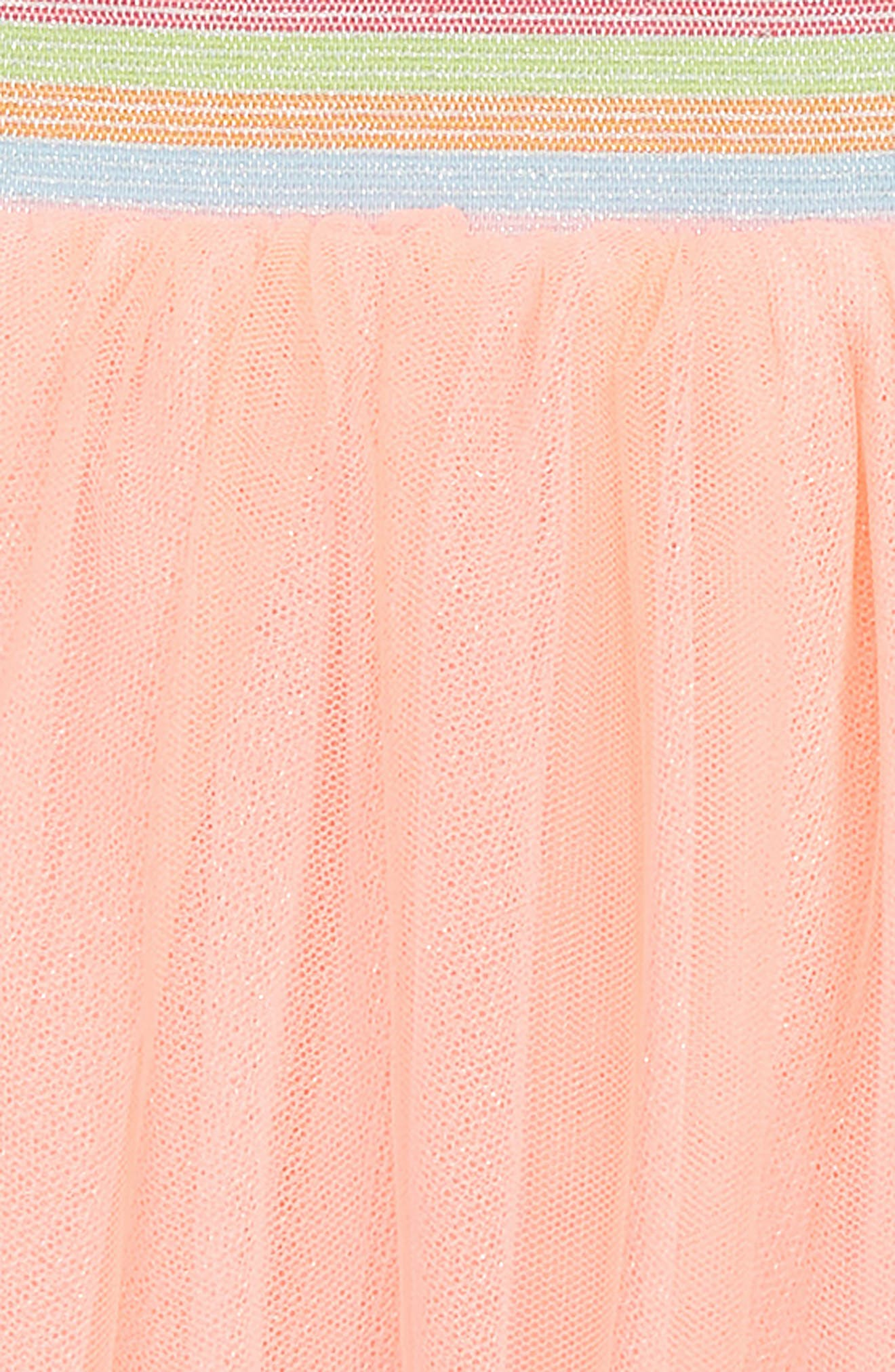 Fringed Hem Tutu Skirt,                             Alternate thumbnail 2, color,                             Orange
