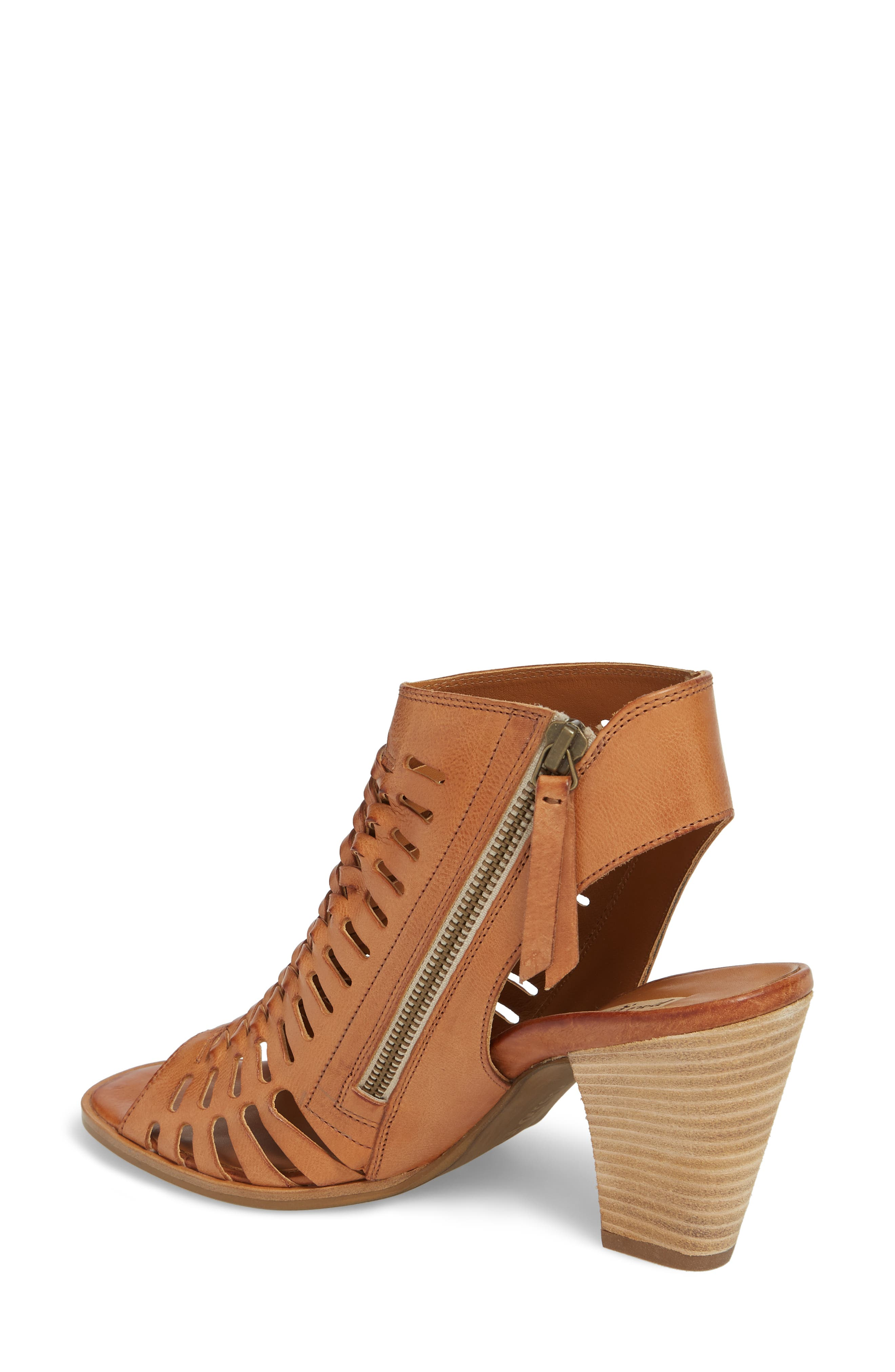 Rosa Woven Peep Toe Sandal,                             Alternate thumbnail 2, color,                             Cuoio Leather
