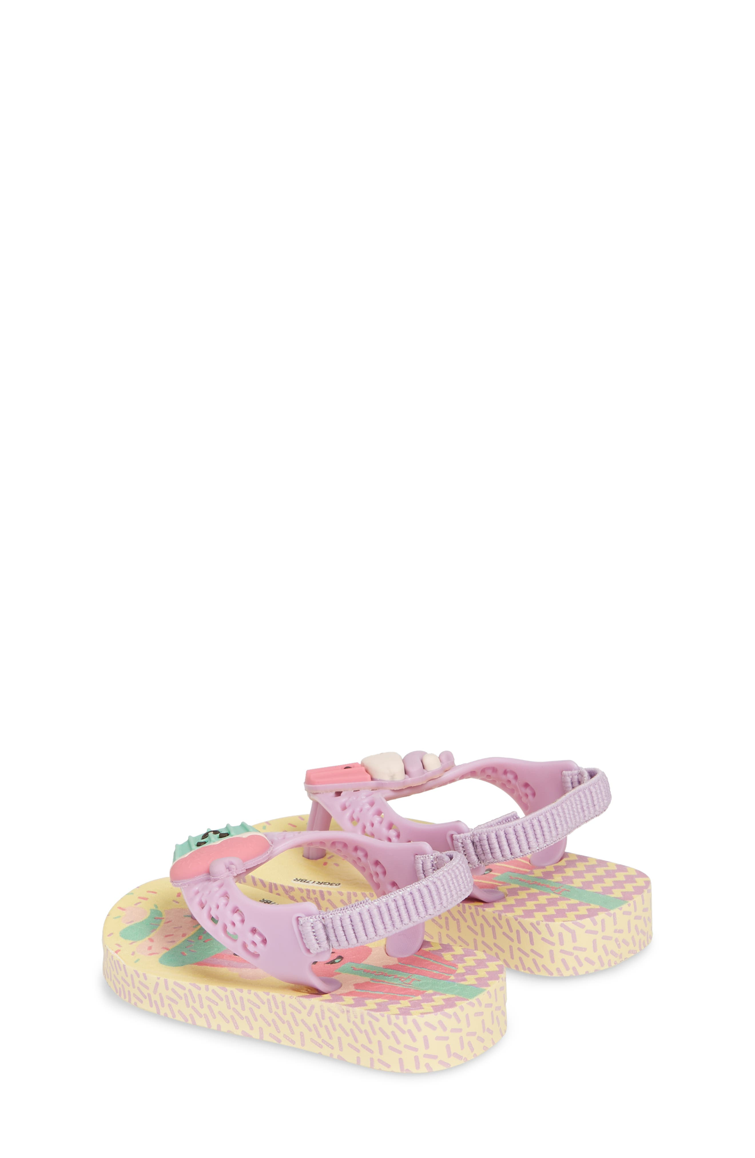 Fun Baby Flip Flop,                             Alternate thumbnail 2, color,                             Yellow/ Lilac