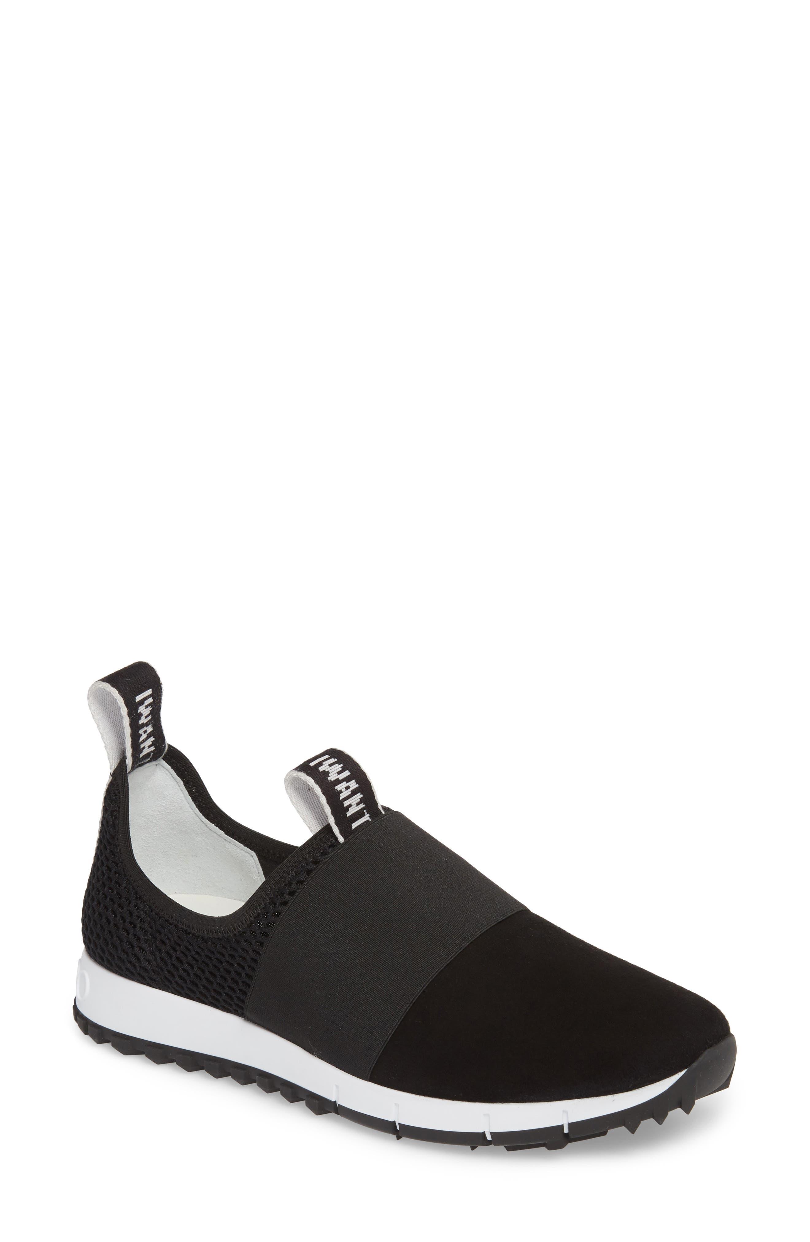 43465feefc6 Jimmy Choo Oakland Black Suede Logo Sneakers