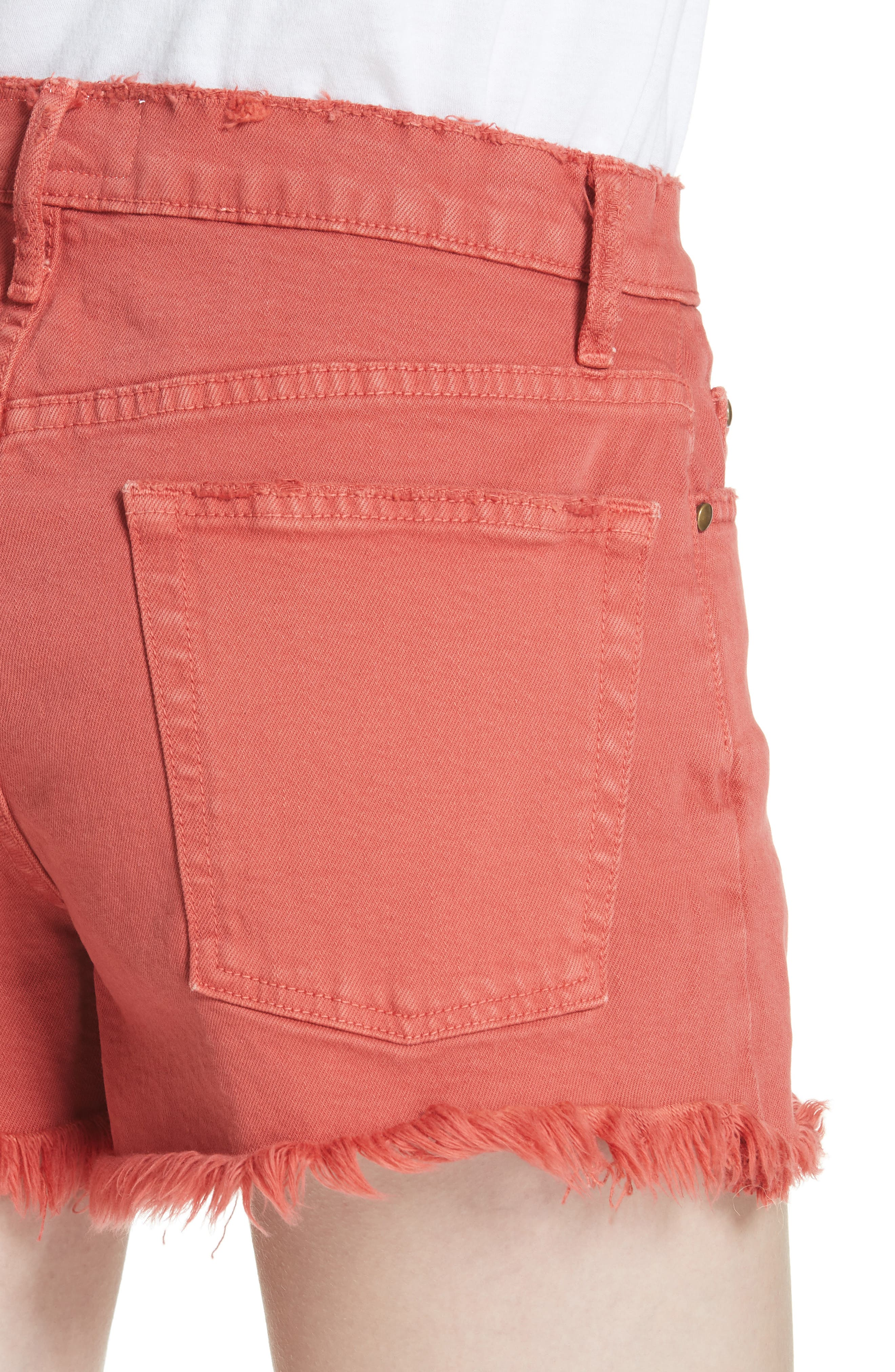 The Cut Off Shorts,                             Alternate thumbnail 4, color,                             Vintage Poppy Wash