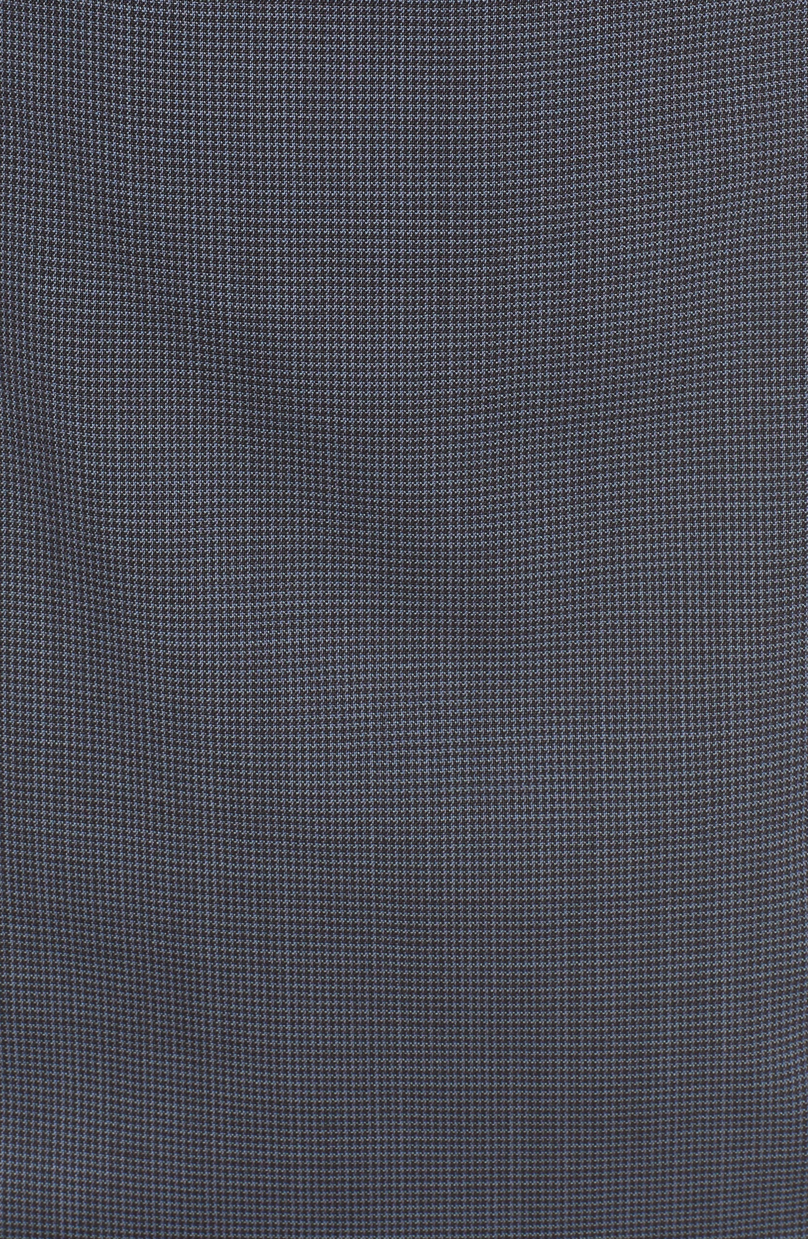 Dalouise Pepita Stretch Wool Sheath Dress,                             Alternate thumbnail 5, color,                             Nautic Blue Fantasy