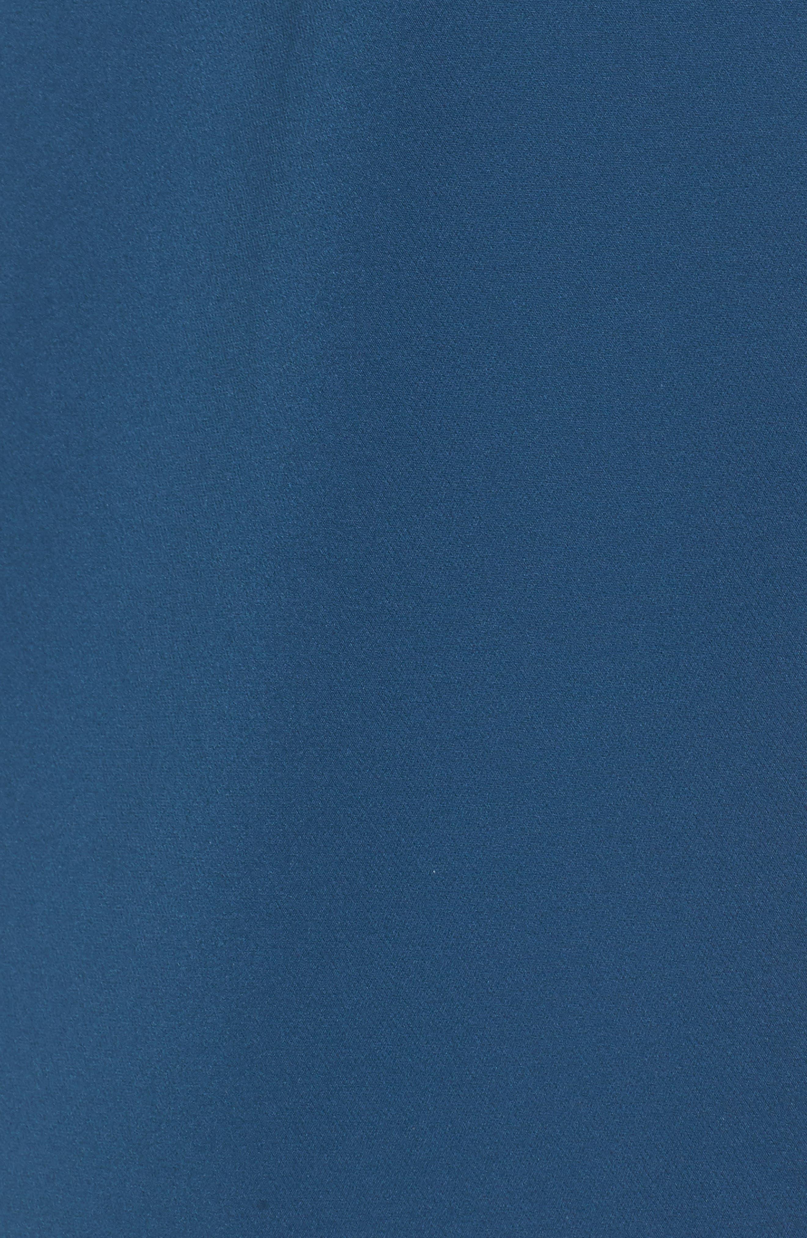 Ruffle Crepe A-Line Dress,                             Alternate thumbnail 6, color,                             Deep Teal