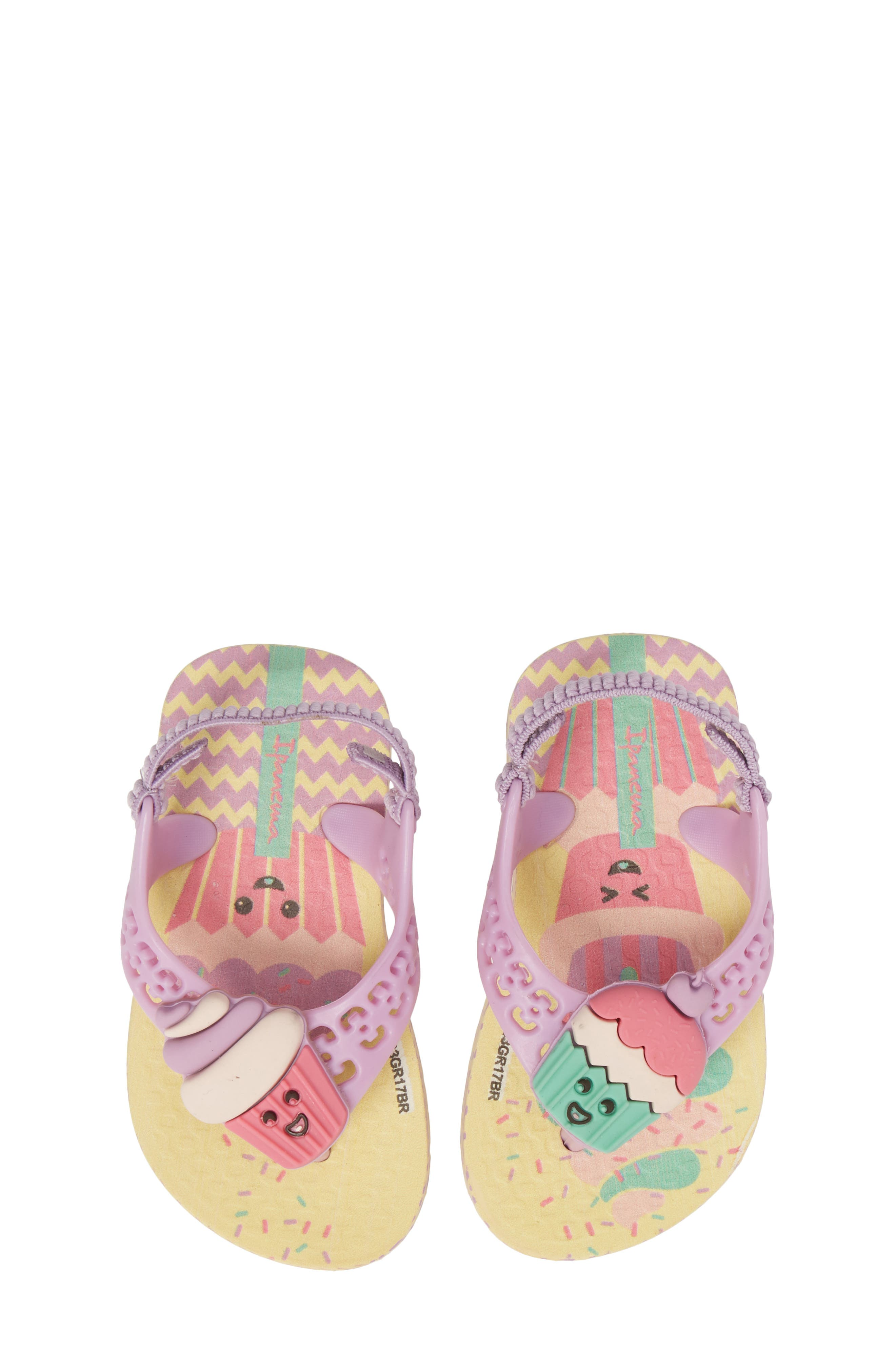 Fun Baby Flip Flop,                         Main,                         color, Yellow/ Lilac