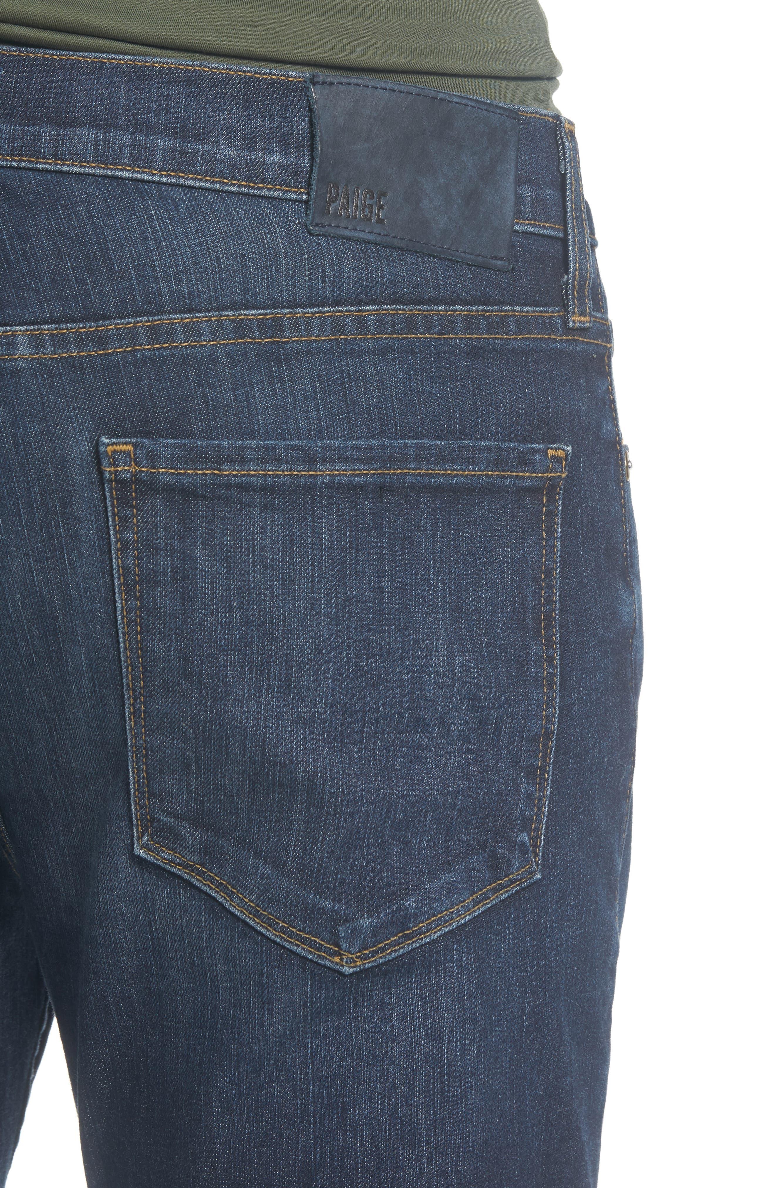 Transcend - Lennox Slim Fit Jeans,                             Alternate thumbnail 4, color,                             Hestan