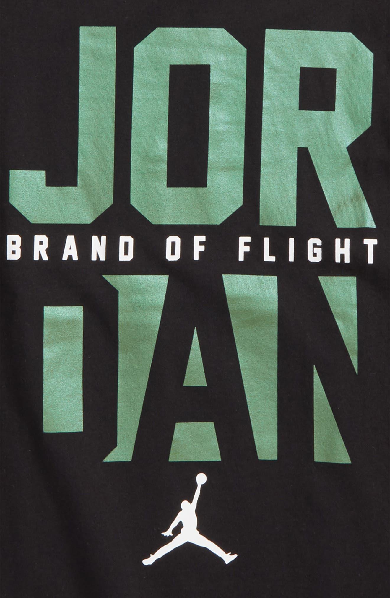 Jordan Clean Sweep Graphic T-Shirt,                             Alternate thumbnail 2, color,                             Black