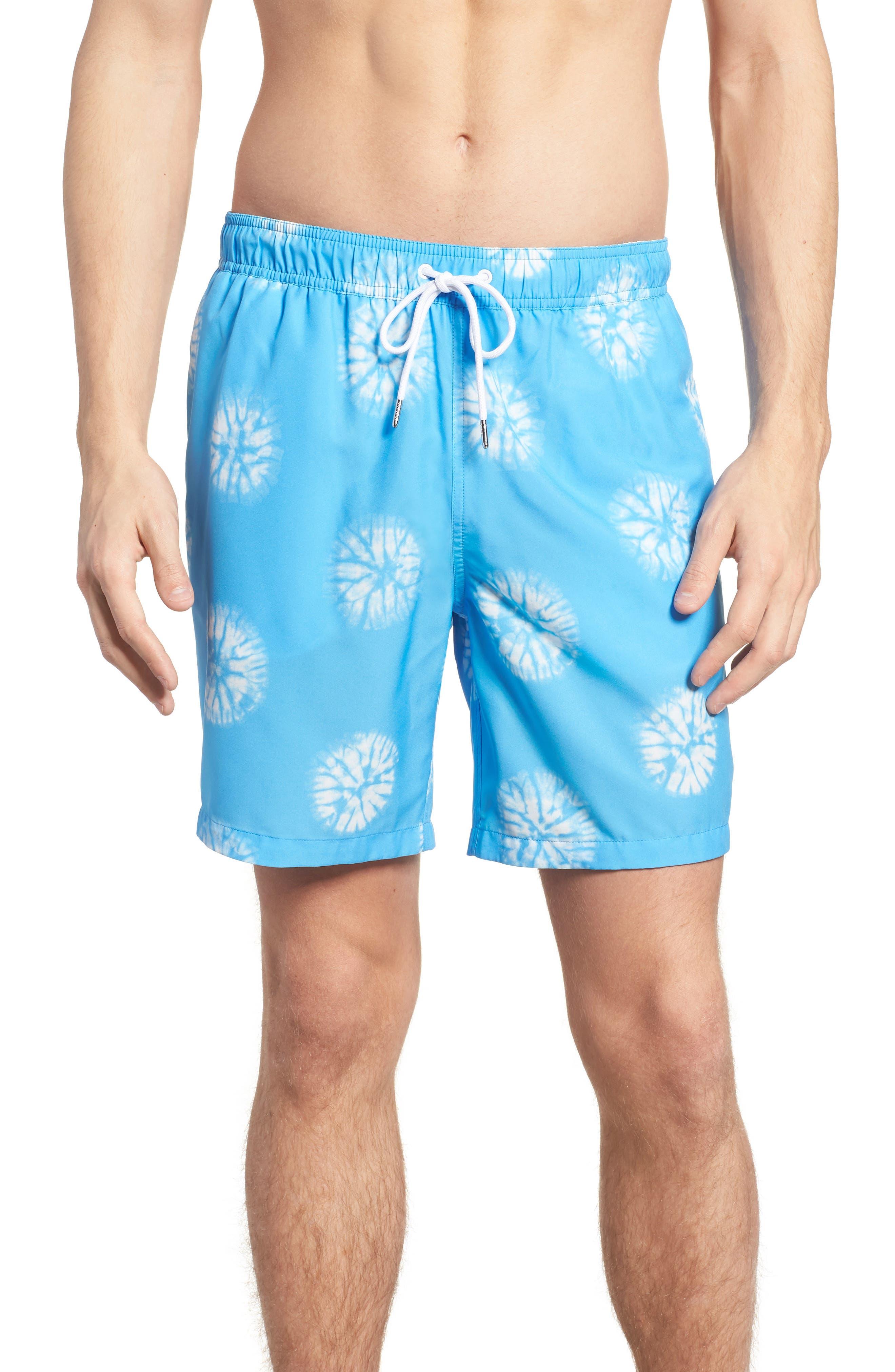 Banzai 7-Inch Swim Trunks,                         Main,                         color, Tie Dye Dots