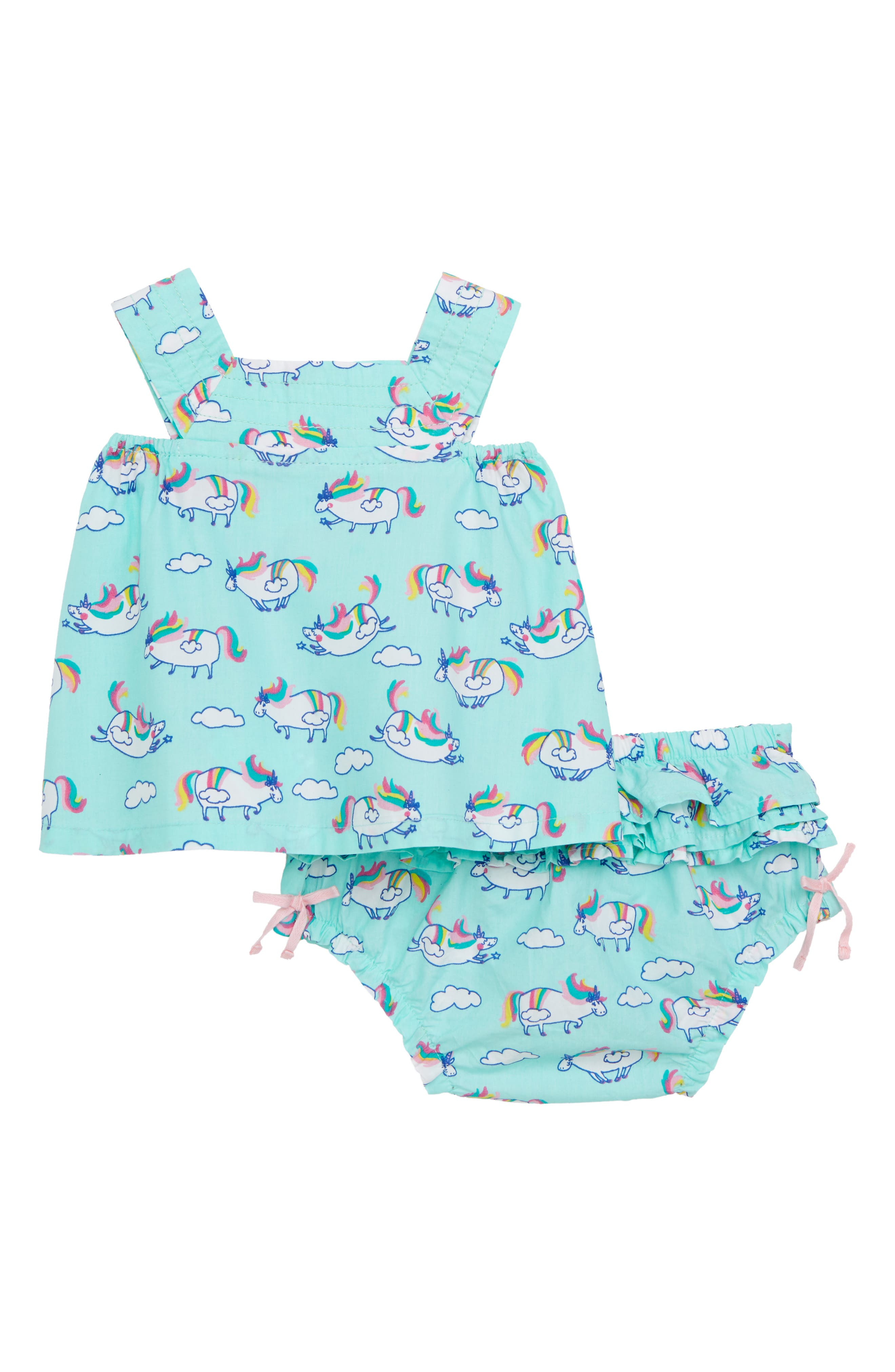 Unicorn Print Dress,                             Main thumbnail 1, color,                             Roly Poly Unicorns