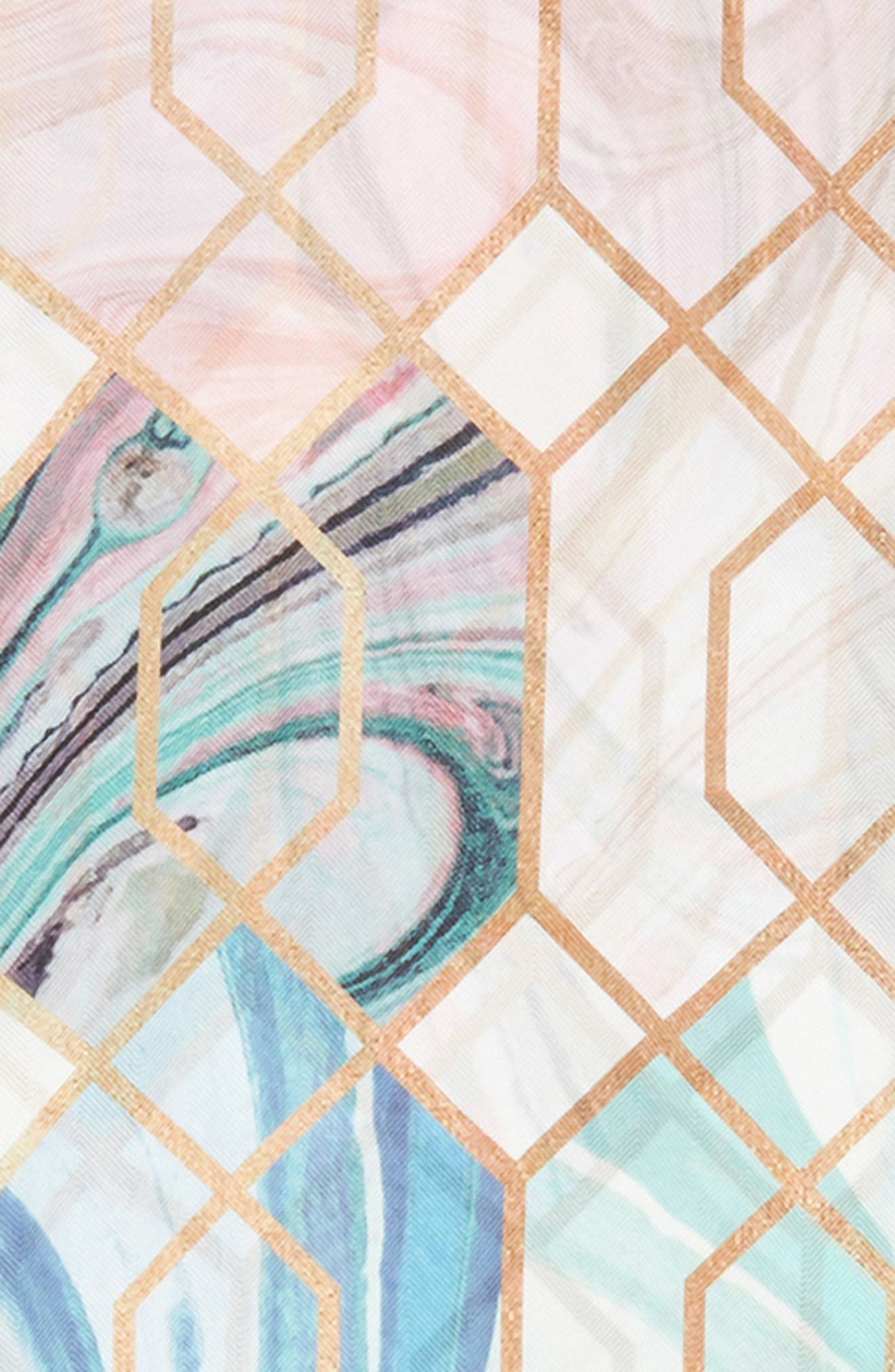 Adeelee - Sea of Clouds Silk Scarf,                             Alternate thumbnail 4, color,                             White