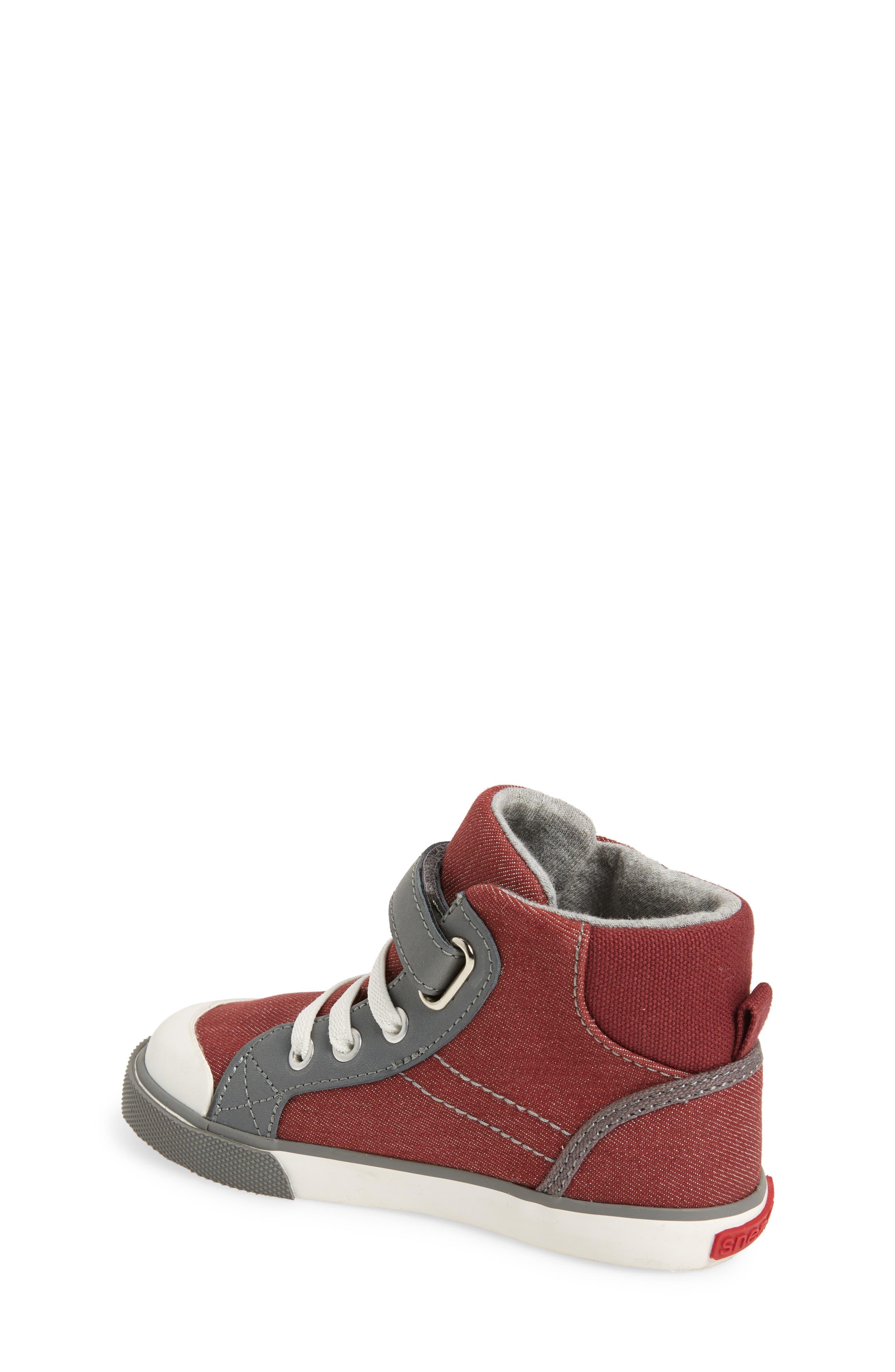 'Dane' Sneaker,                             Alternate thumbnail 2, color,                             Burgundy Denim