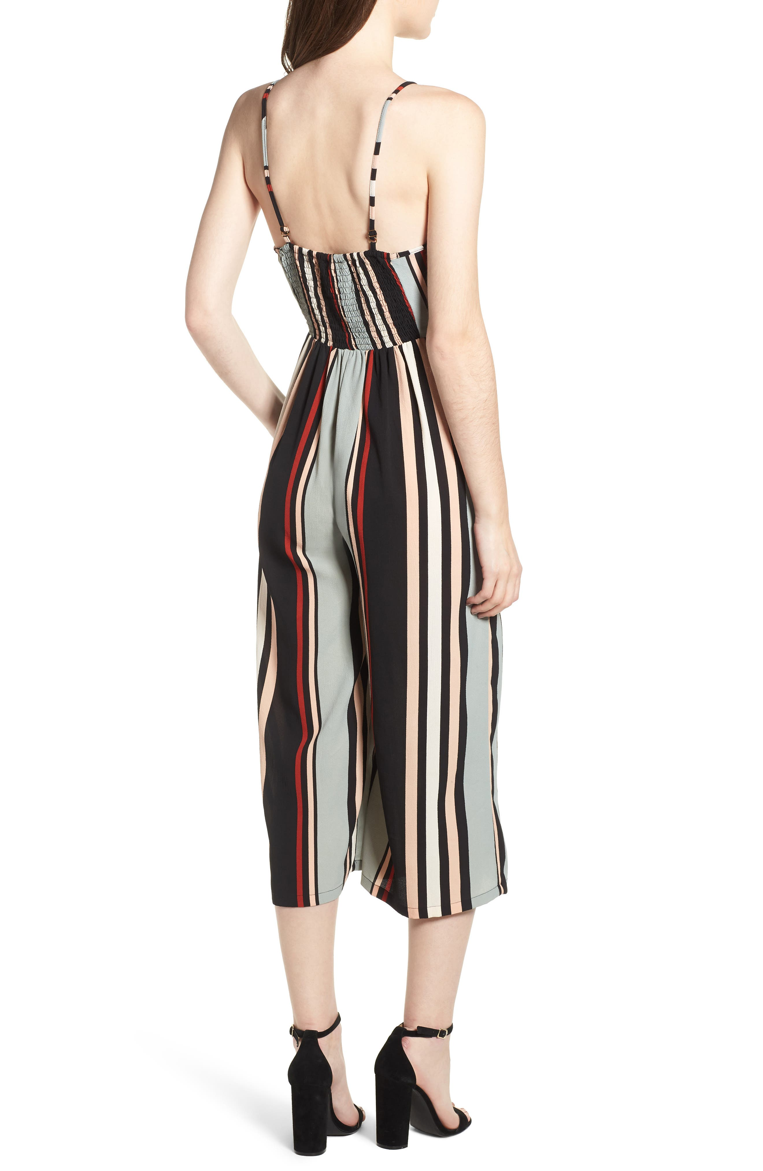 Stripe Jumpsuit,                             Alternate thumbnail 2, color,                             Blue-Black