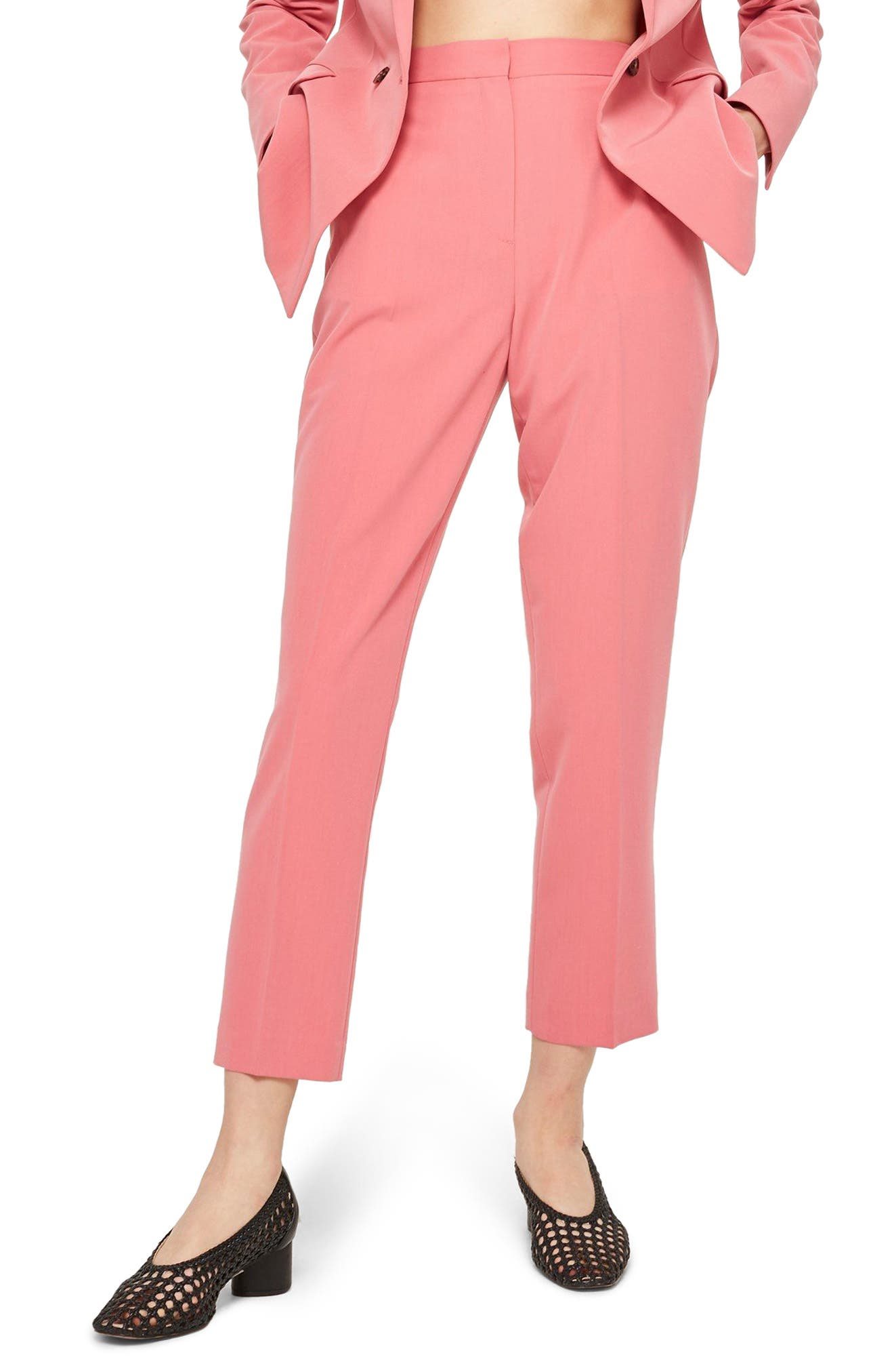 Topshop Cropped Suit Trousers