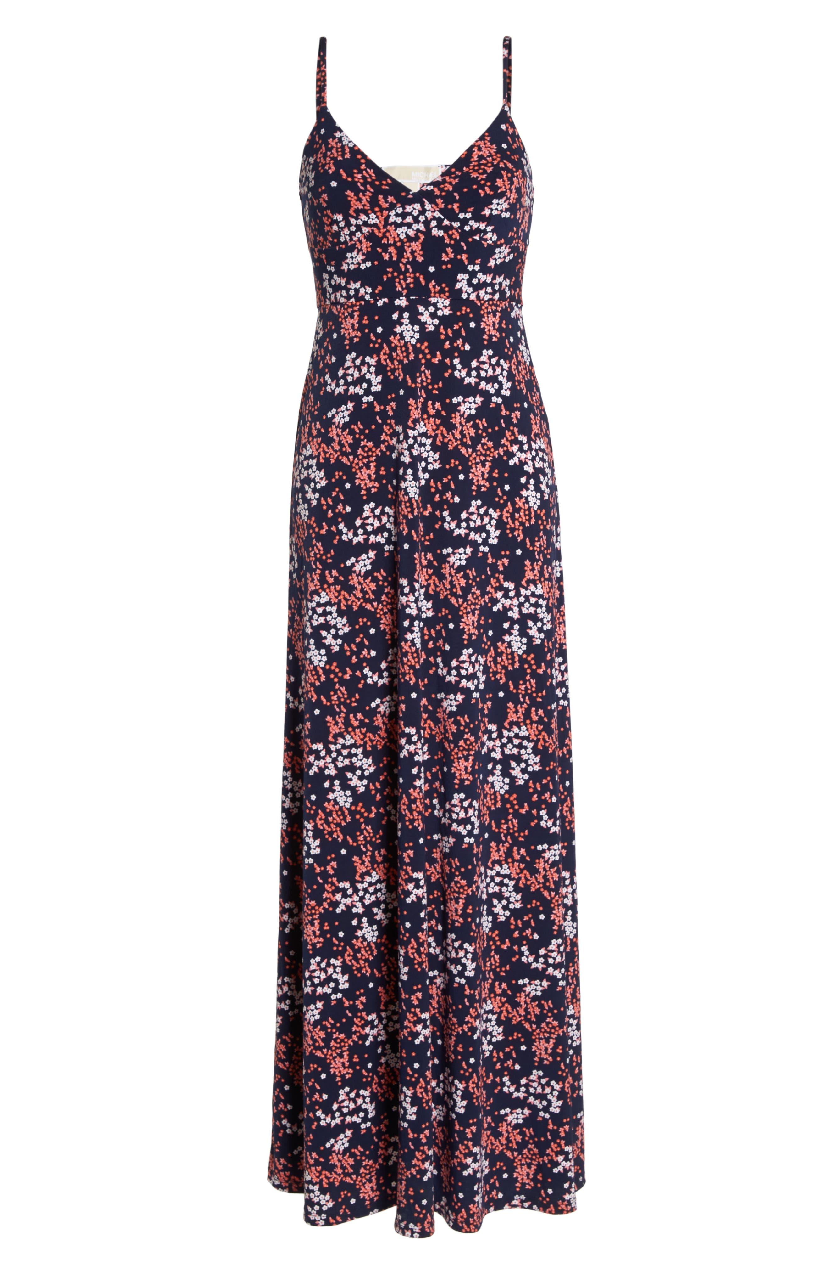 Bloom Maxi Dress,                             Alternate thumbnail 7, color,                             True Navy/ Bight Blush