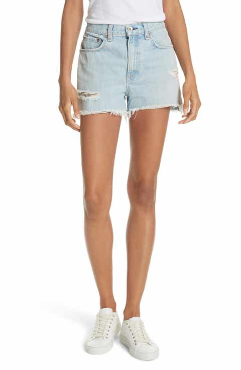 rag & bone/JEAN Justine High Waist Cutoff Denim Shorts (Glena)