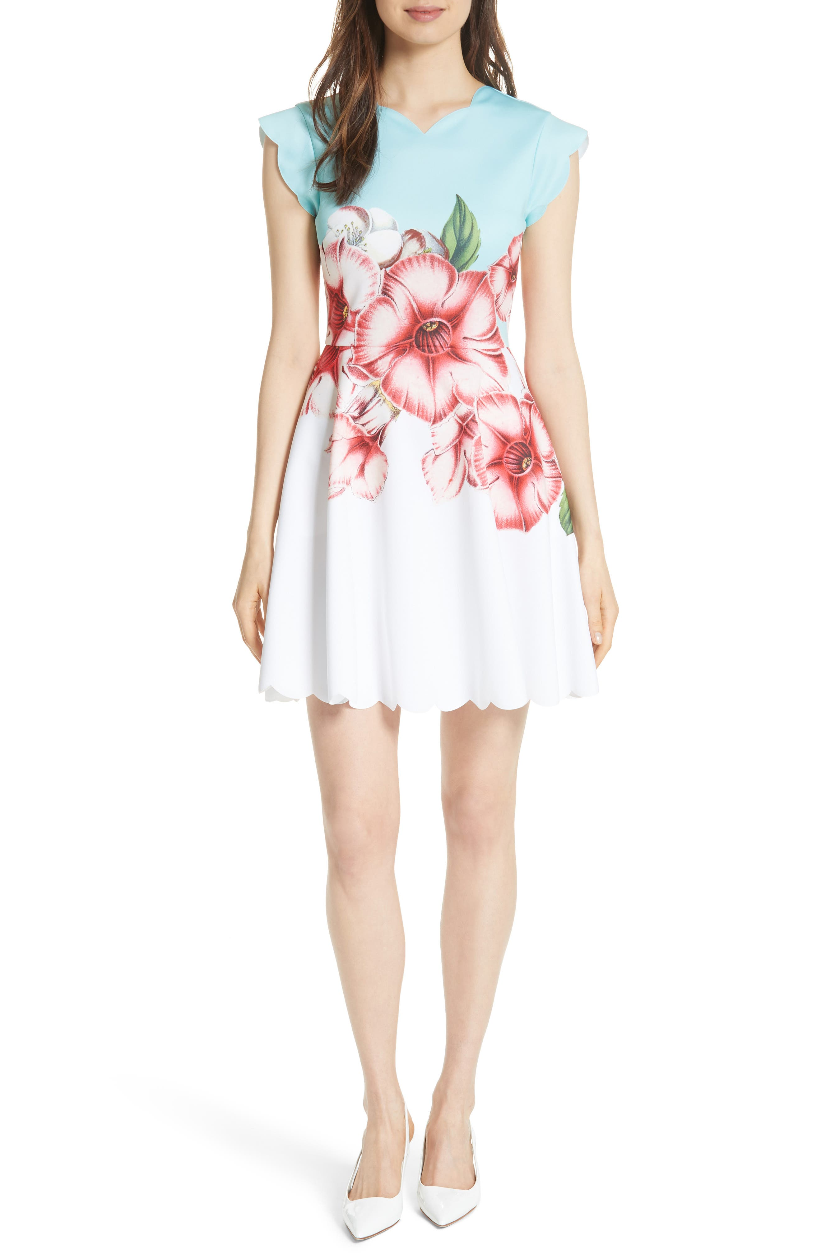 Maevea Nectar Skater Dress,                         Main,                         color, Pale Green