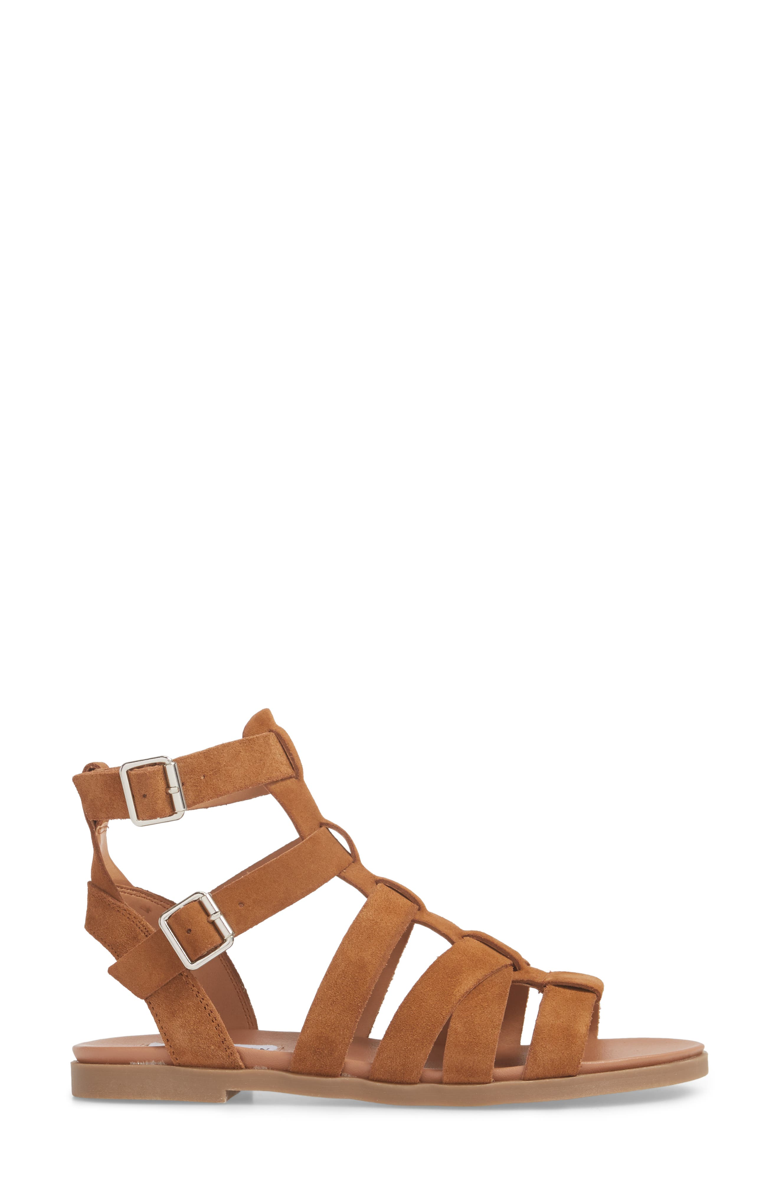 Delmar Sandal,                             Alternate thumbnail 3, color,                             Chestnut Suede