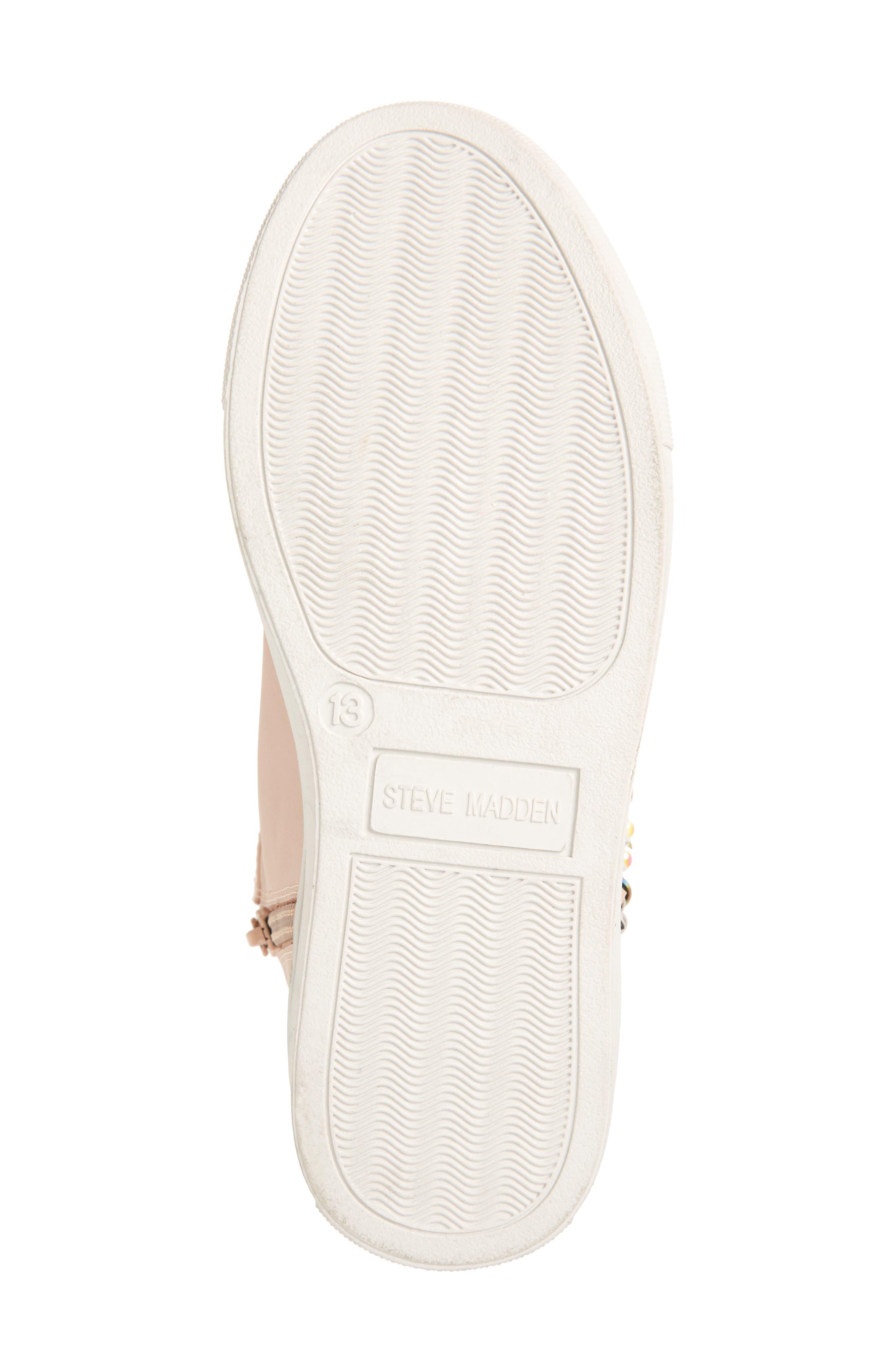 Hybrid Embellished High Top Sneaker,                             Alternate thumbnail 6, color,                             Blush