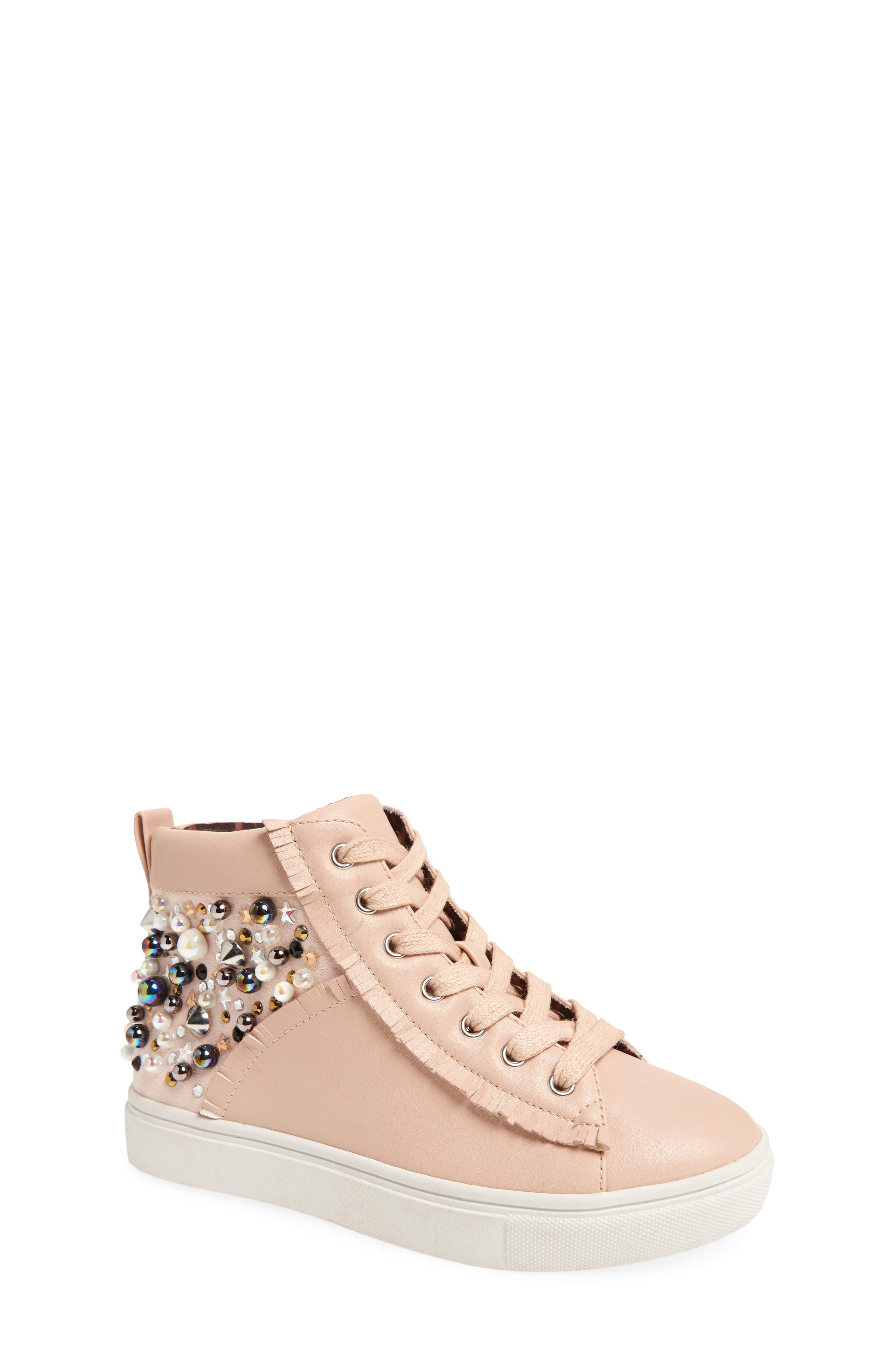 Hybrid Embellished High Top Sneaker,                             Main thumbnail 1, color,                             Blush